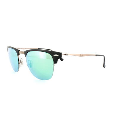 Ray-Ban Sunglasses Clubmaster Light Ray 8056 176/3R Black Brown Green Mirror