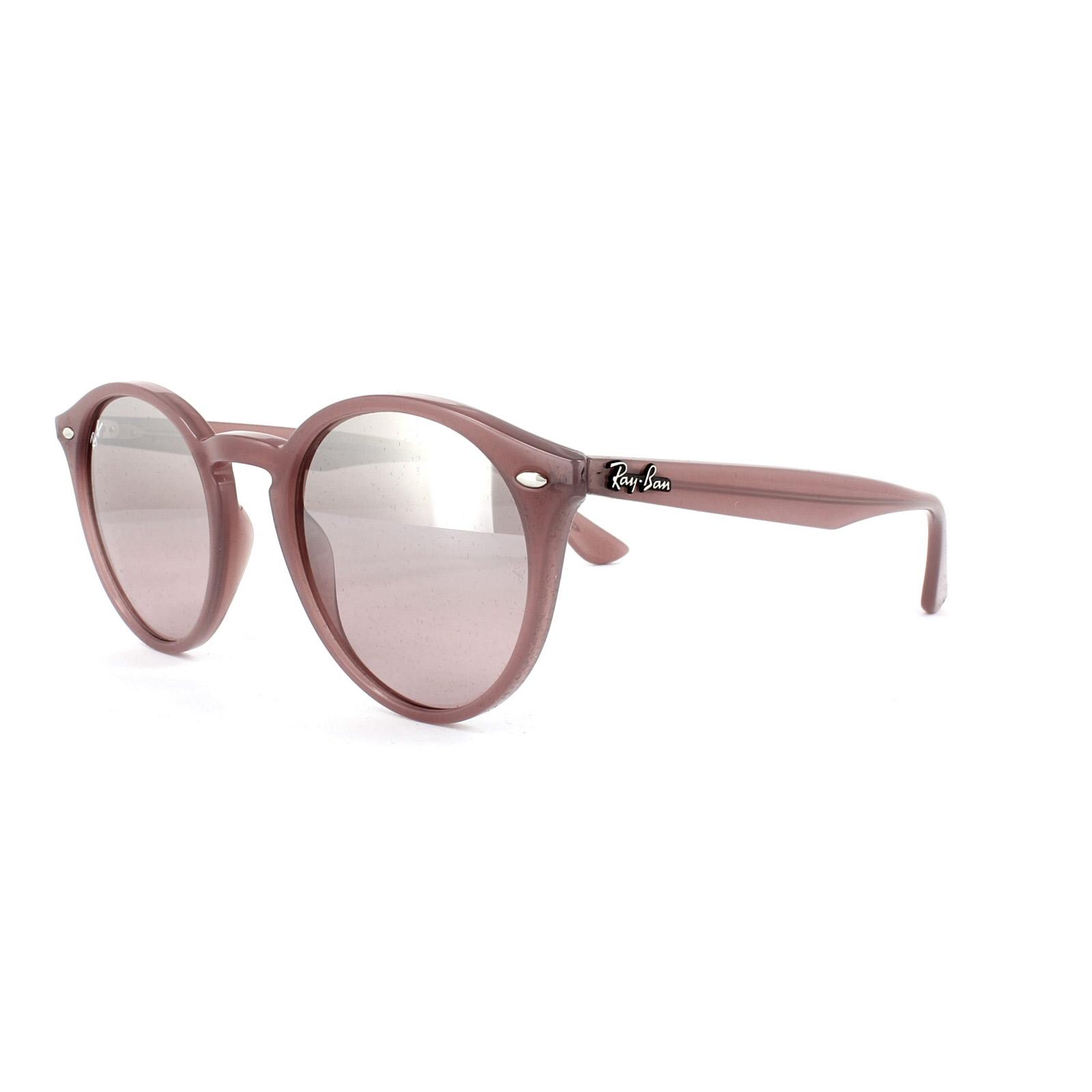 e1dc2c3aae6 Sentinel Ray-Ban Sunglasses 2180 62297E Pink Silver Pink Gradient Mirror