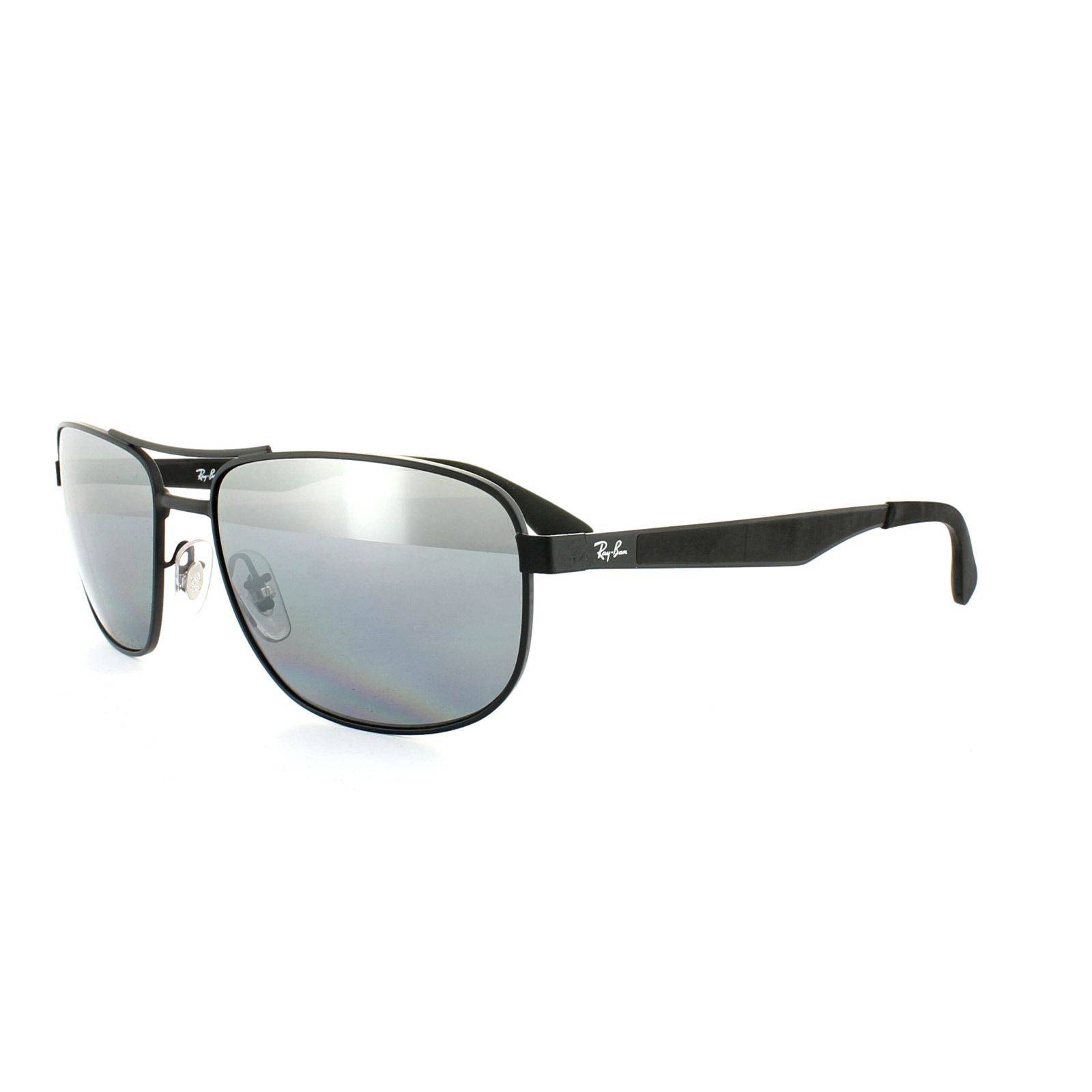 99d6101d61 Sentinel Ray-Ban Sunglasses 3528 006 82 Matt Black Silver Mirror Polarized  58mm