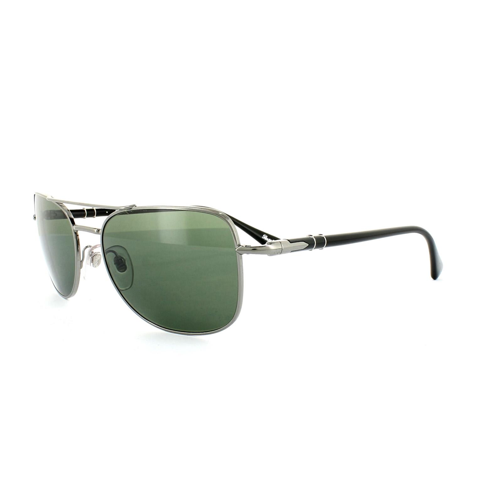 87d557d54e918 Sentinel Persol Sunglasses 2420 513 31 Gunmetal Crystal Green