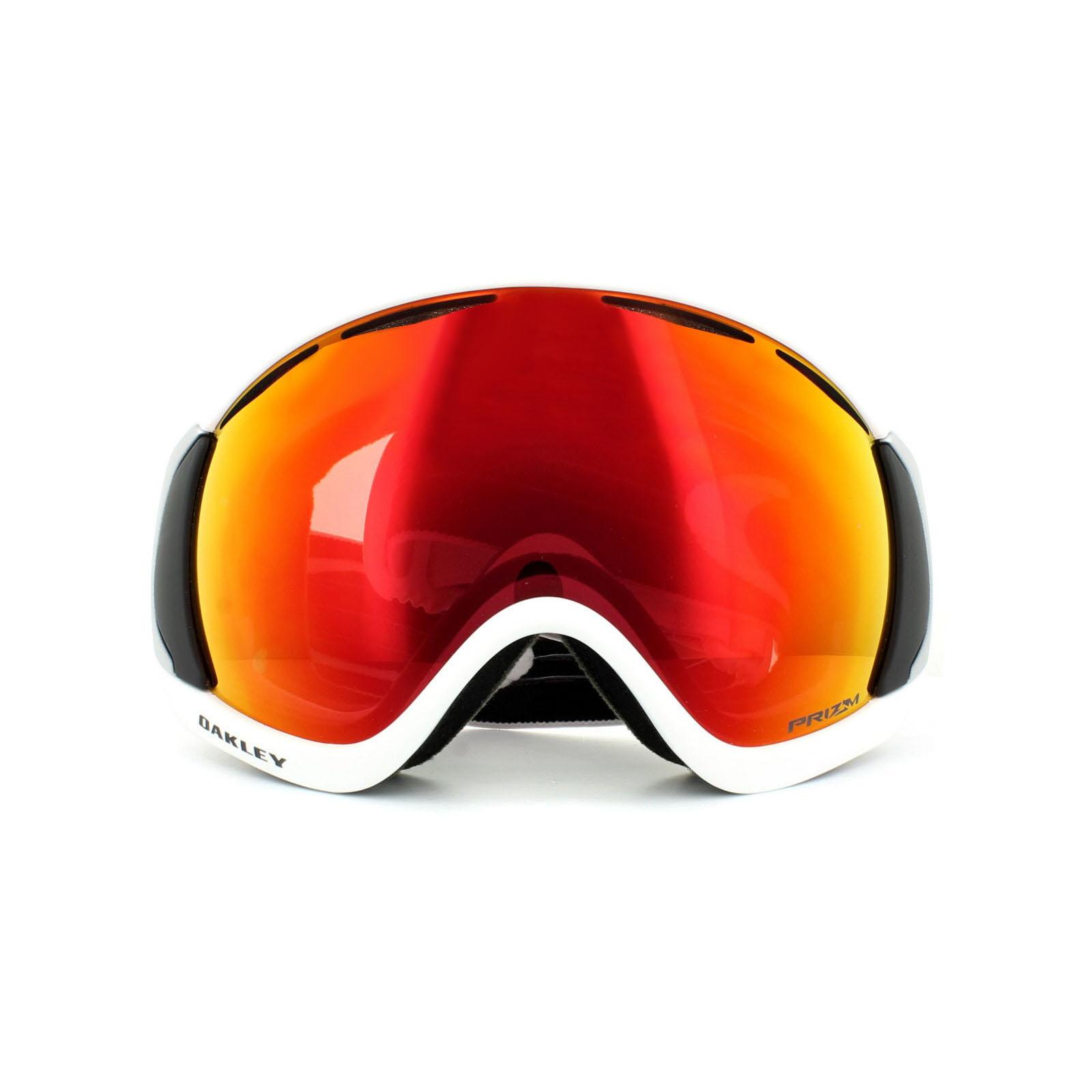 9915fae6b69e Sentinel Oakley Ski Goggles Canopy OO7047-50 Matt White Prizm Torch Iridium