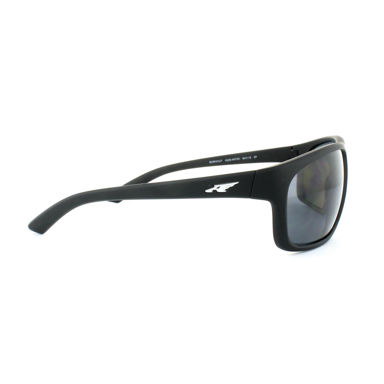 0842cf32f55 Sentinel Arnette Sunglasses 4225 Burnout 447 81 Fuzzy Black Grey Polarized