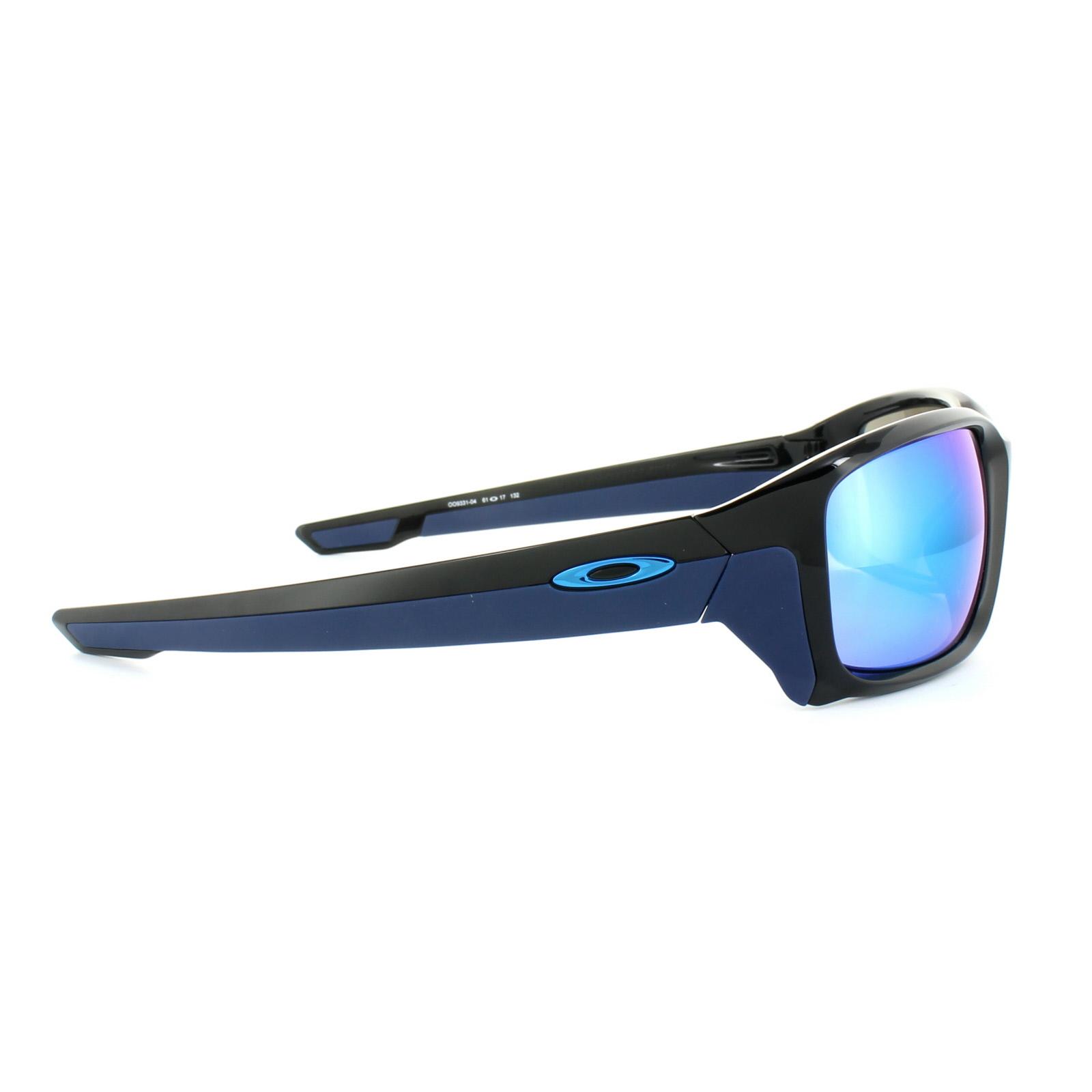 82a984b4e75 Sentinel Oakley Sunglasses Straightlink OO9331-04 Polished Black Sapphire  Iridium