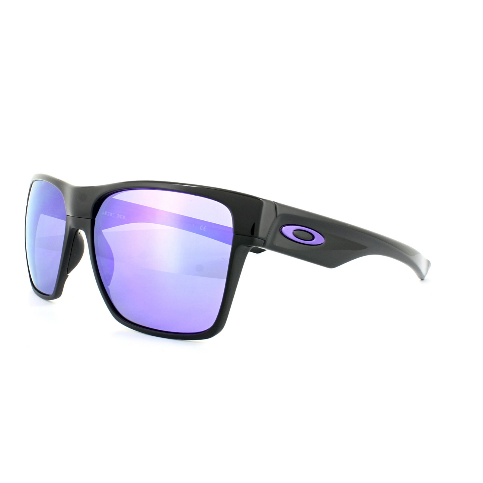 37dcd8853 Sentinel Oakley Sunglasses TwoFace XL OO9350-04 Polished Black Violet  Iridium