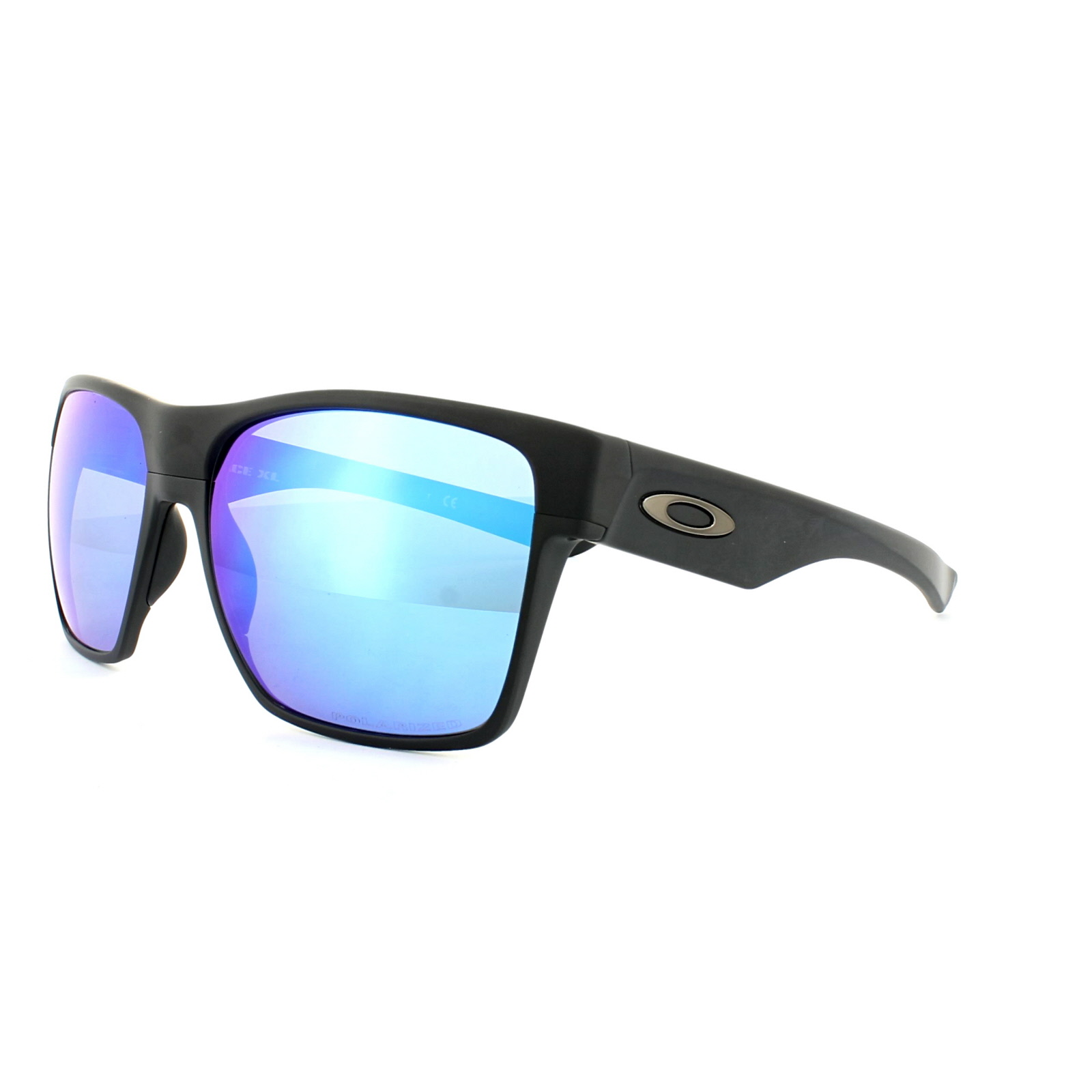 fbac739764e Details about Oakley Sunglasses TwoFace XL OO9350-05 Matt Black Sapphire  Iridium Polarized