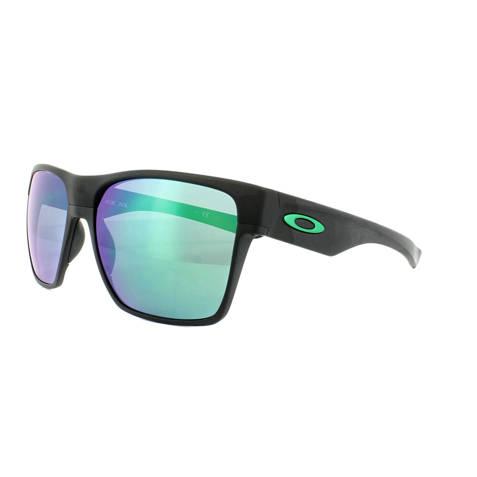 5322e7579b6 Sentinel Oakley Sunglasses TwoFace XL OO9350-08 Matt Black Jade Iridium