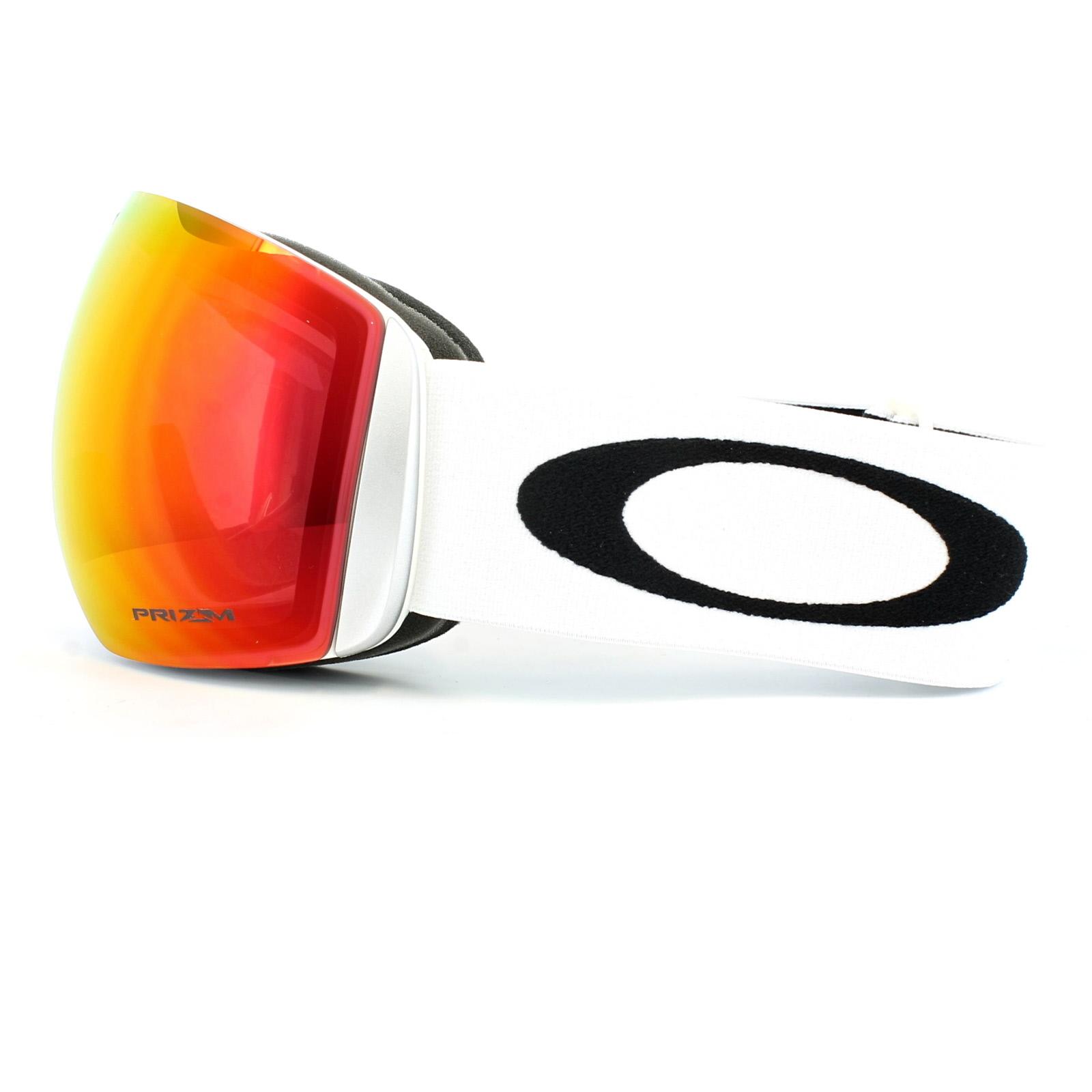 2fa5b669e03e Sentinel Oakley Ski Goggles Flight Deck OO7050-35 Matt White Prizm Torch  Iridium