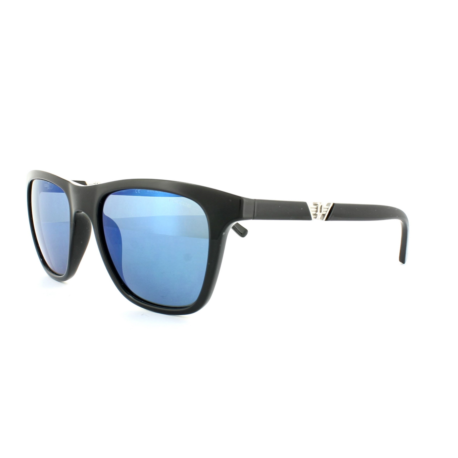 7f1c6647db34c Sentinel Police Sunglasses S1800M Drift 3 Z42B Shiny Black Blue Mirror