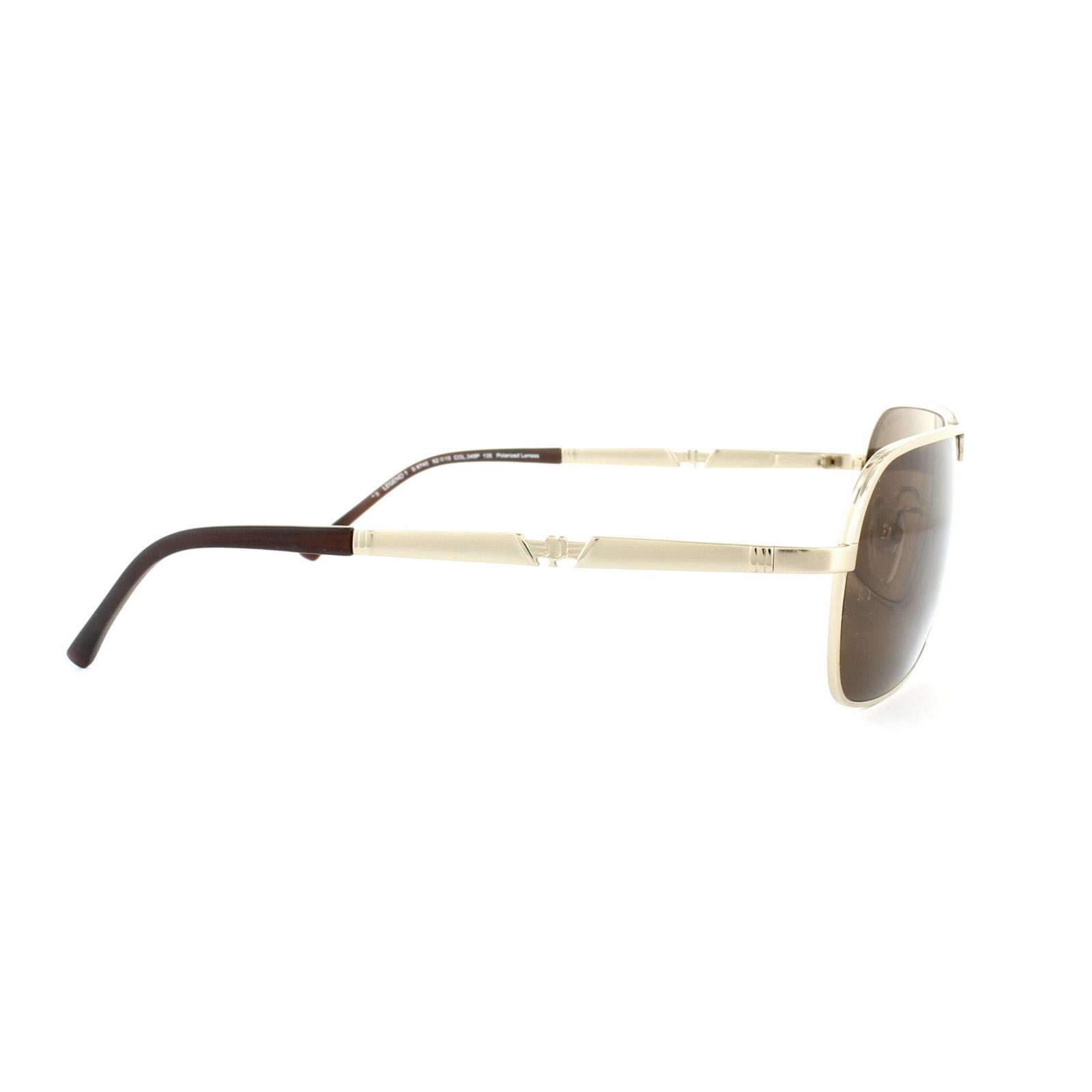 Police Sonnenbrille S8745M 349P Gold Braun Polarisiert kEXBHjPY