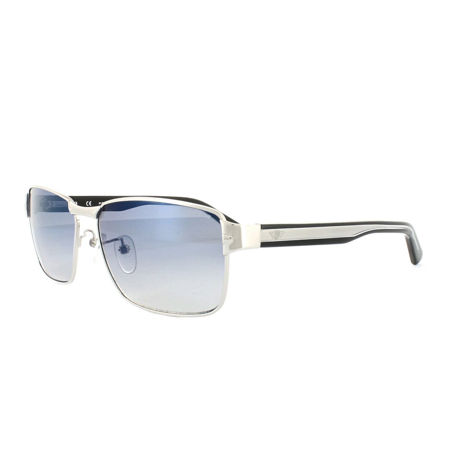3a3faf98e1c Sentinel Police Sunglasses S8850 Glider 1 579B Ruthenium Black Blue Mirror.  Sentinel Thumbnail 2
