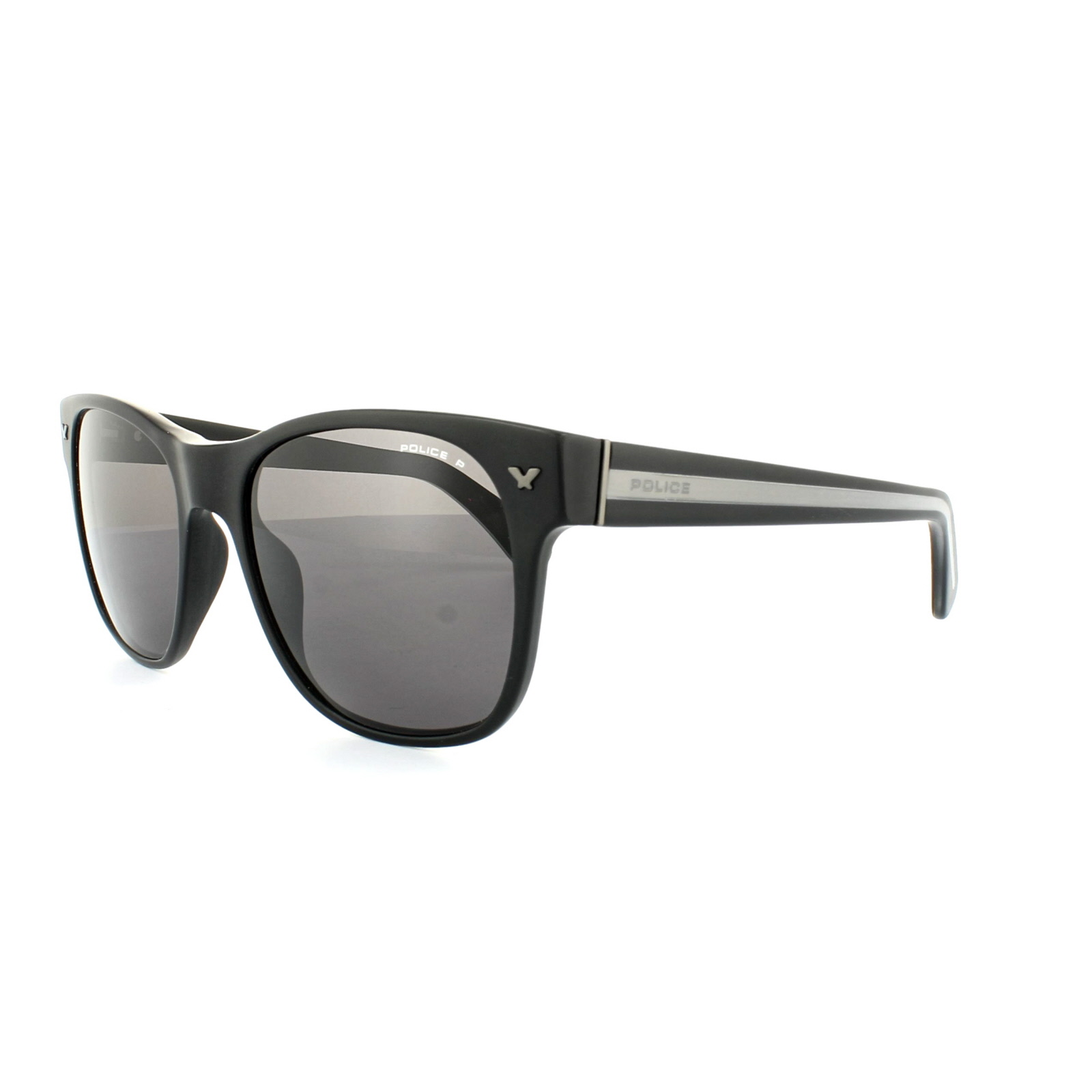 b296850b3fc23 Police Sunglasses SPL164 703P Matt Black Grey Polarized 883663838780 ...