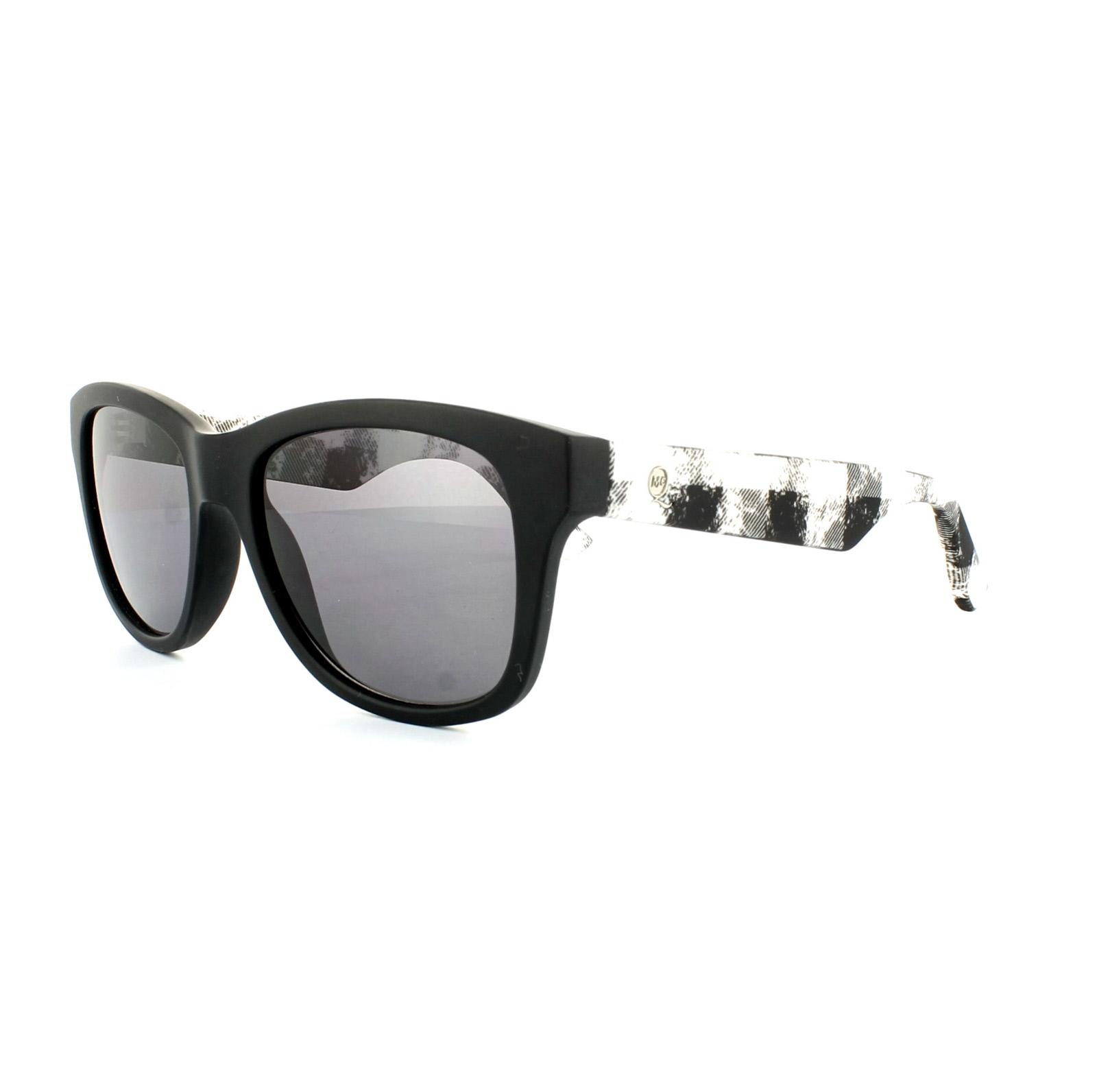 Sentinel McQ Alexander McQueen Sunglasses 0002 S RIE Y1 Matt Black White  Marble Grey 9715f02d01