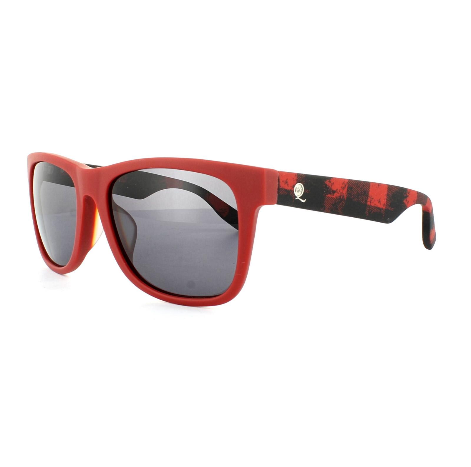 5656d2e2c81 Sentinel McQ Alexander McQueen Sunglasses 0033 F S SSC Matt Red Grey