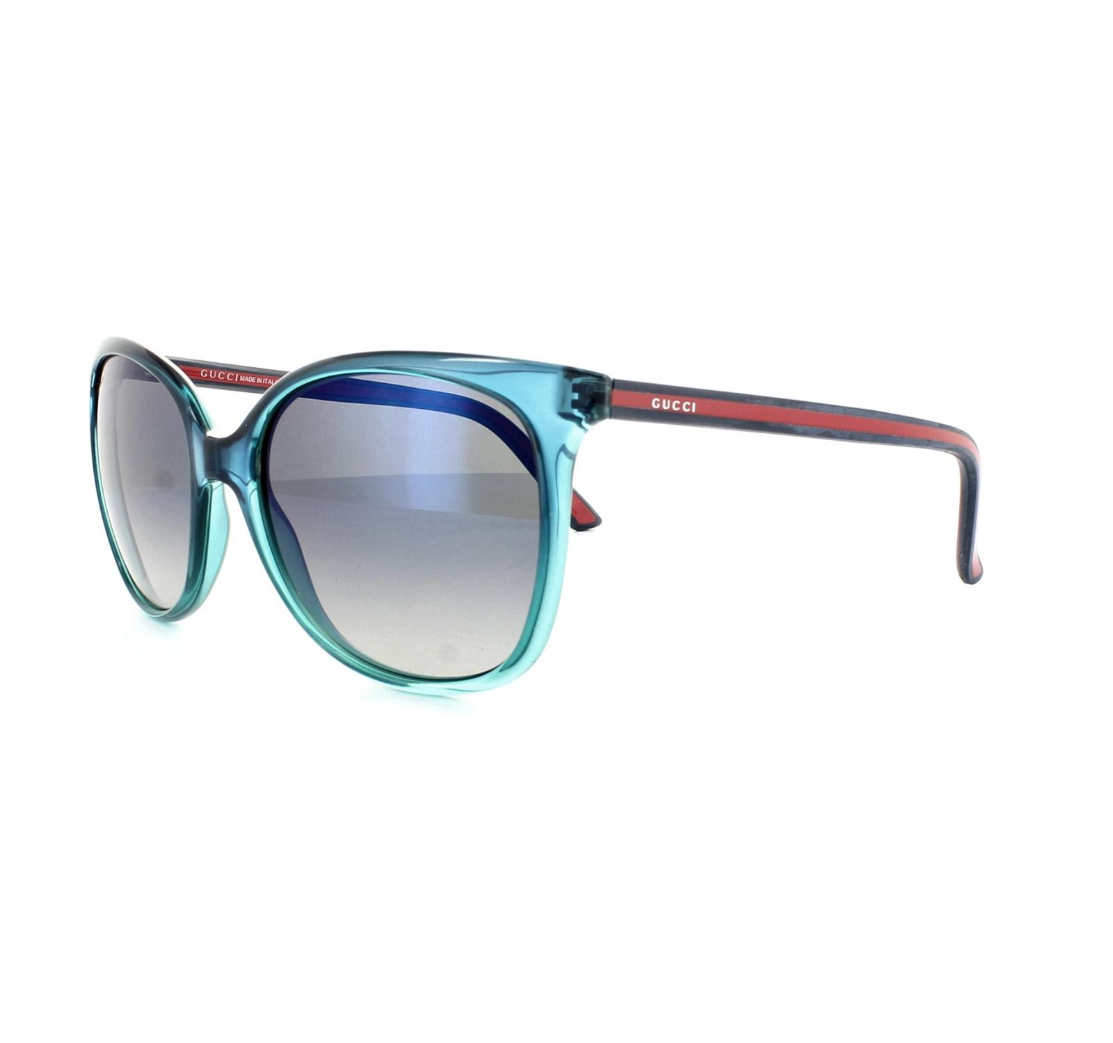 Gucci Gafas de sol 3649 836 DK Azul Cristal Azul Degradado | eBay
