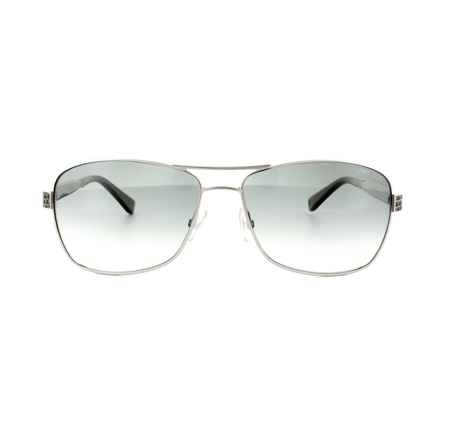 a000f5ec6f19 Sentinel Jimmy Choo Sunglasses Cris 010 YR Palladium Grey Green Gradient
