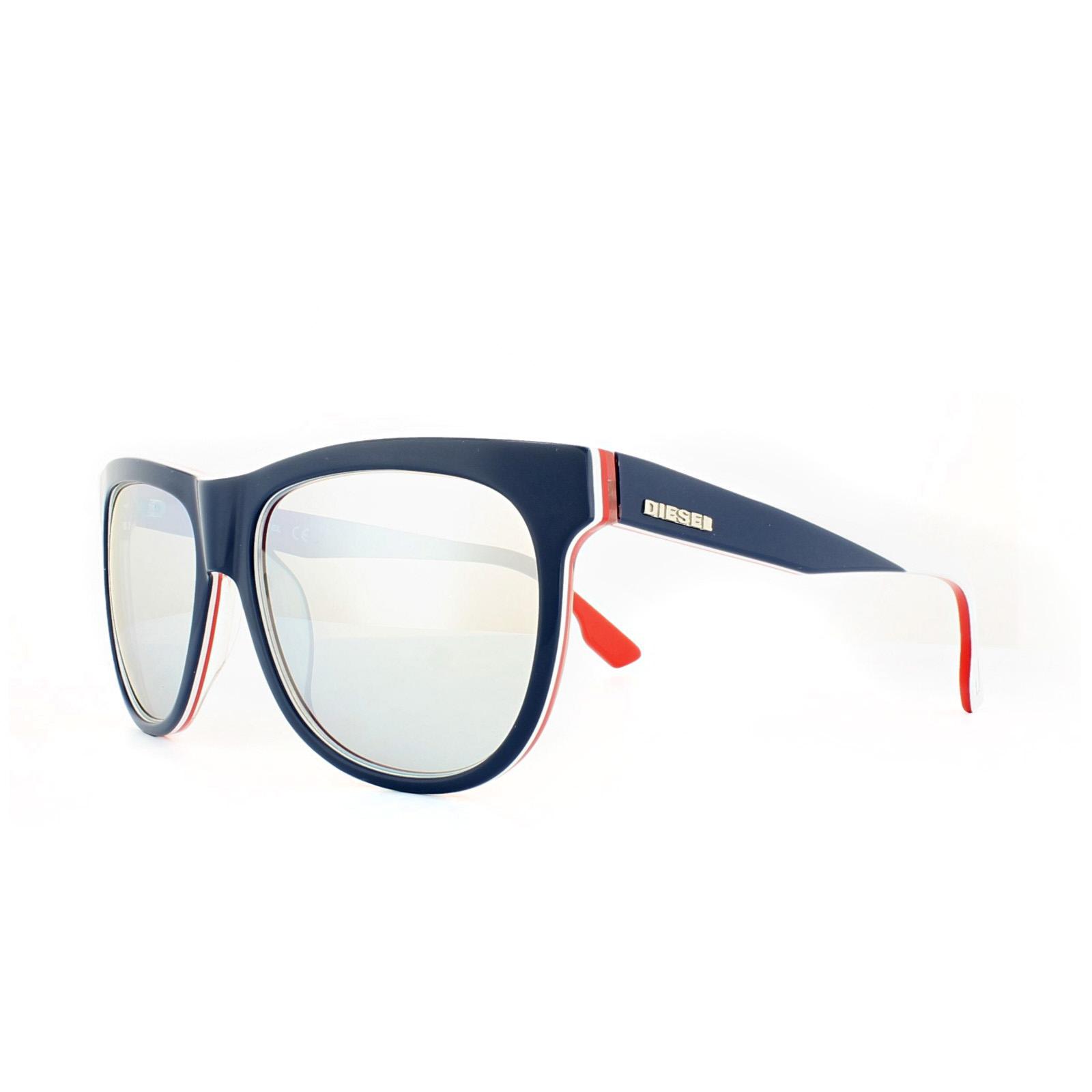 e2c40d79ab Diesel Sunglasses DL0112 92C Blue Red White Blue Mirror 664689647163 ...
