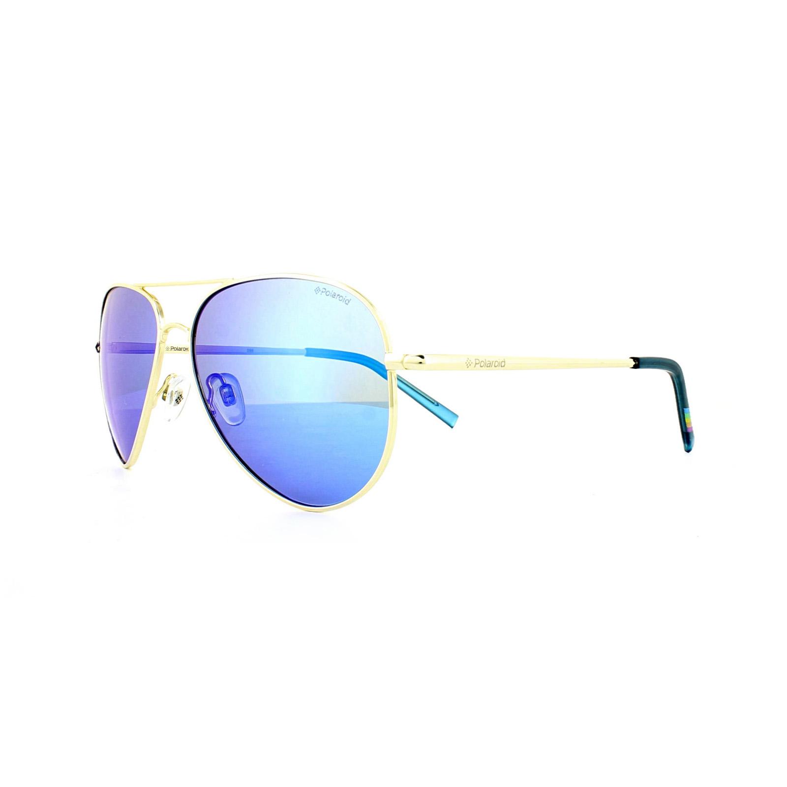 b6ec8c06123 Sentinel Polaroid Sunglasses 6012 N J5G JY Gold Grey Blue Mirror Polarized
