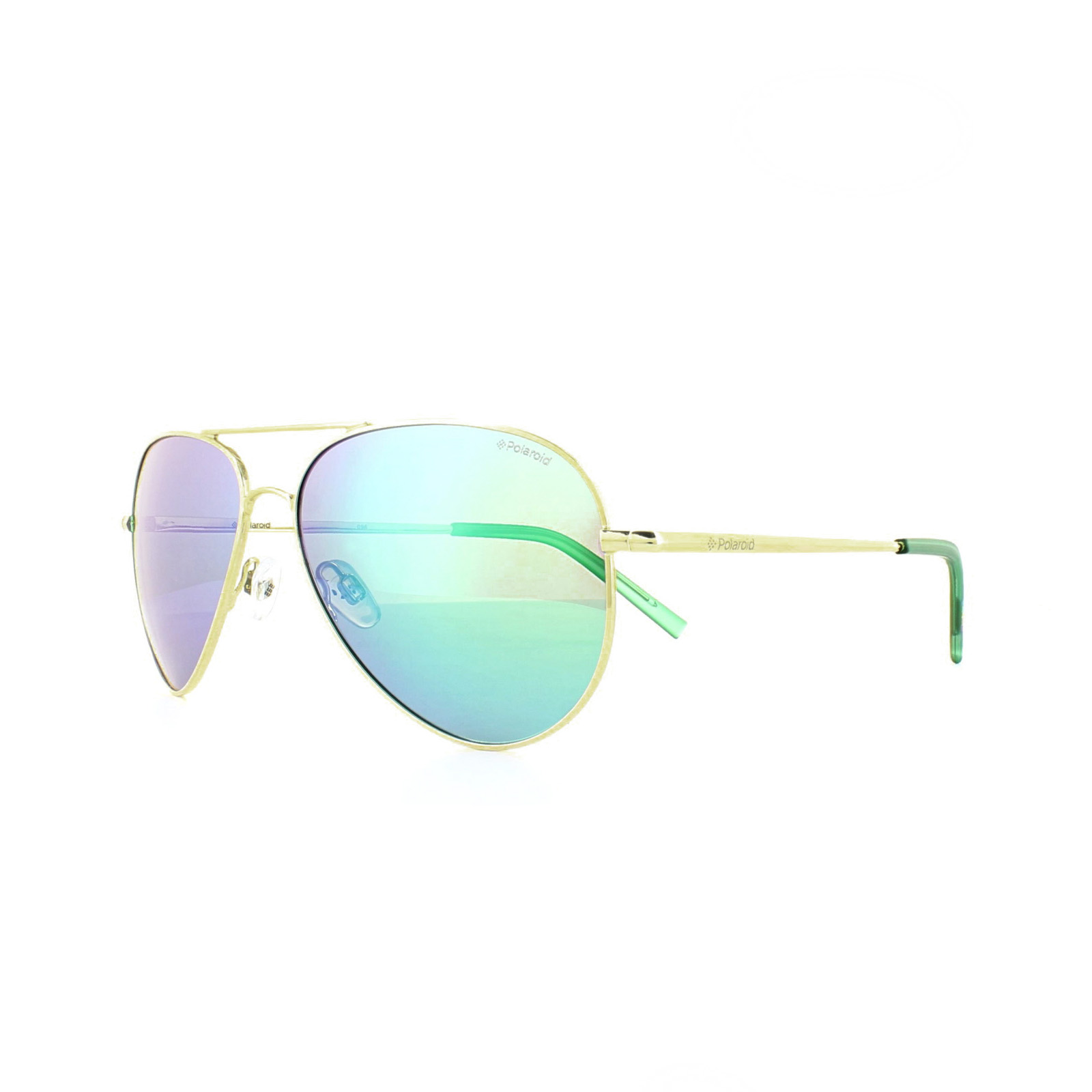 7ce668a3fa Sentinel Polaroid Sunglasses PLD 6012 N J5G K7 Gold Green Mirror Polarized