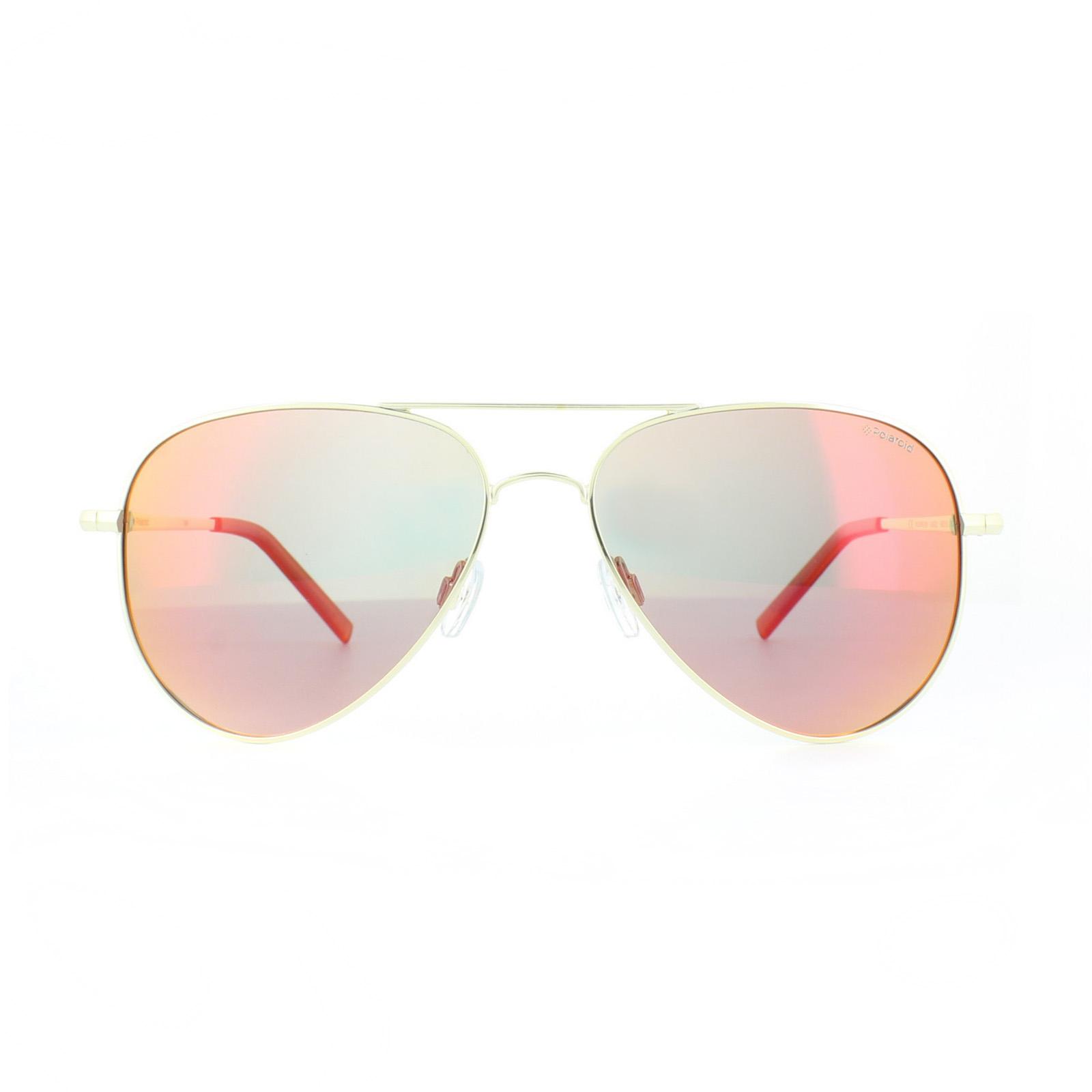Sentinel Polaroid Sunglasses PLD 6012 N J5G OZ Gold Red Mirror Polarized 3d1eedb25d79