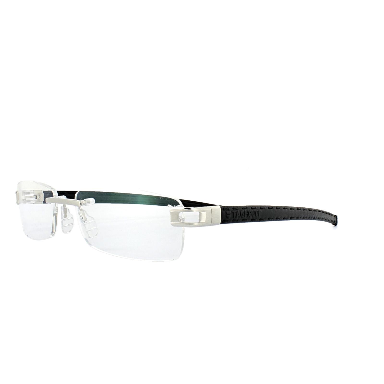 Tag Heuer Glasses Frames L-Type T 0152 002 Platinum Black Leather ...