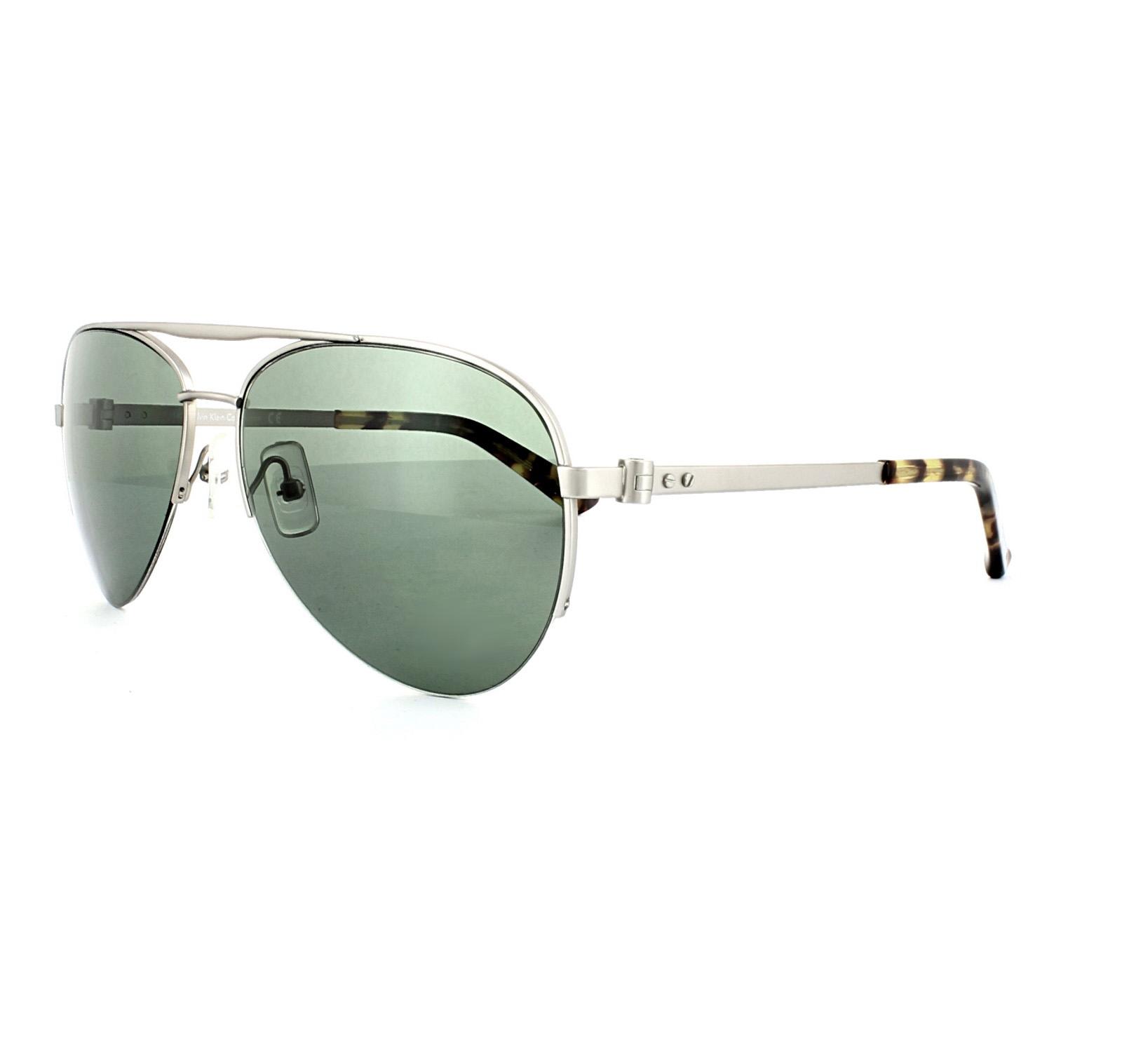 8602d825f5 Calvin Klein Sunglasses CK8000S 045 Silver Green 750779088111