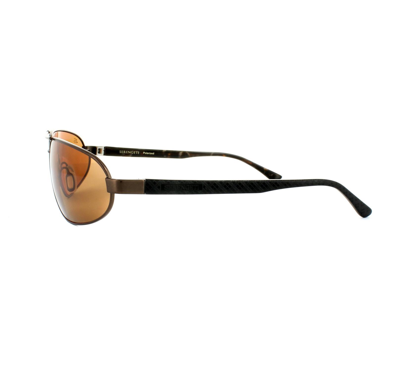166e0738e4 Sentinel Serengeti Sunglasses Monza 7794 Satin Dark Brown PhD Drivers Brown  Polarized