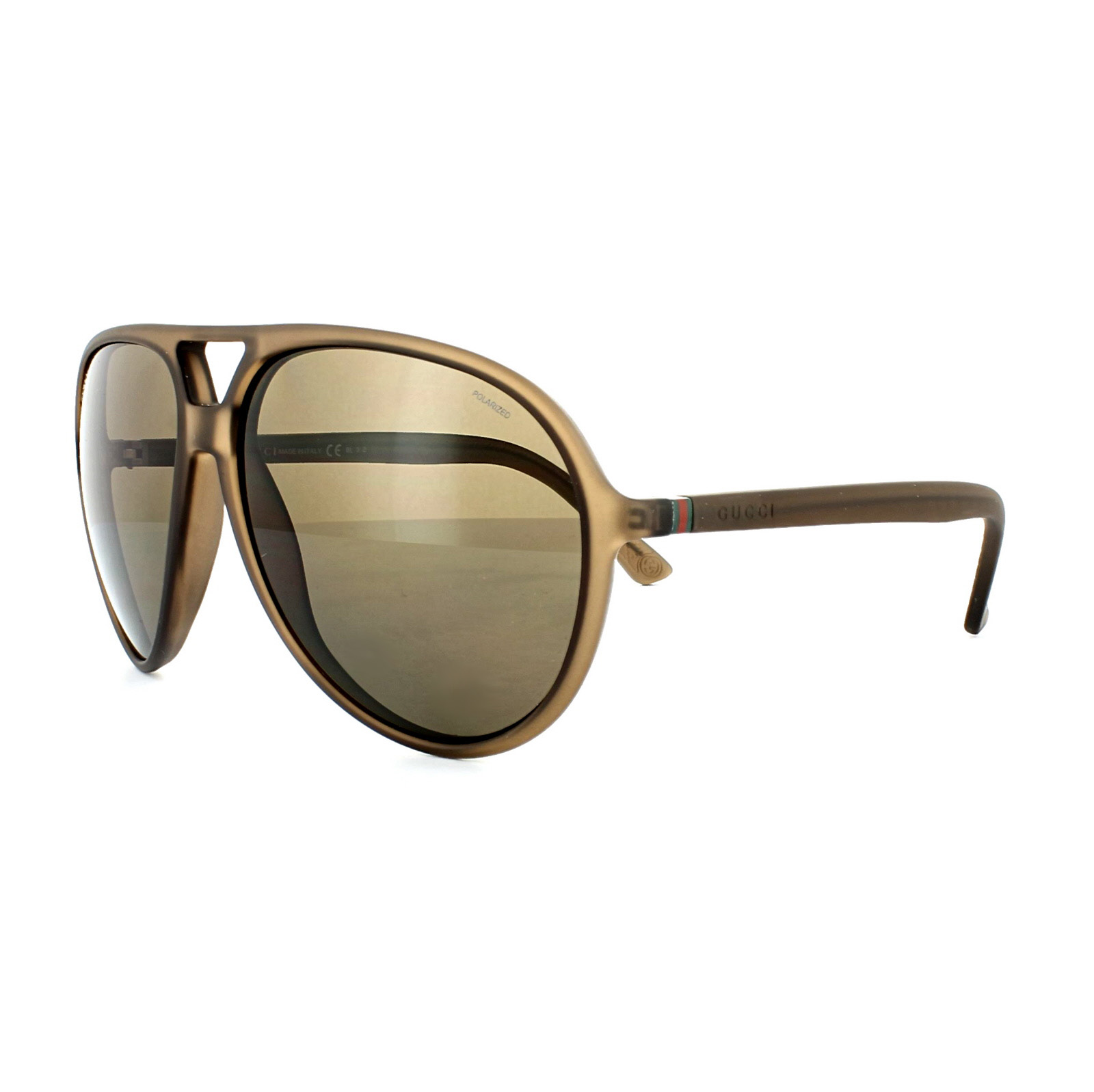 Gucci Gafas de sol 1090 B00 SP Marrón Bronce Polarizado | eBay