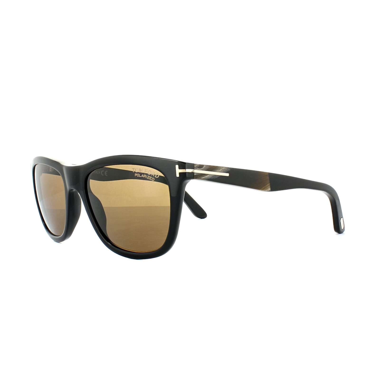 9f443ad42e Details about Tom Ford Sunglasses 0500 Andrew 01H Shiny Black Brown  Polarized