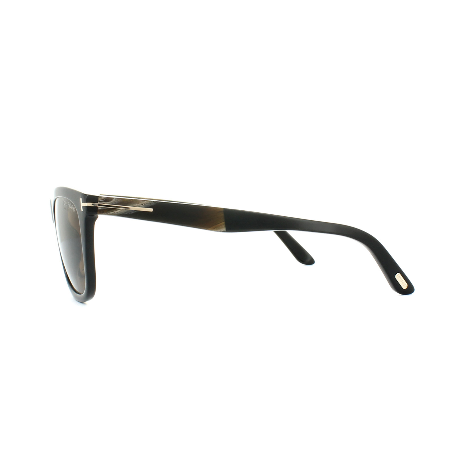 bea97e685eb Sentinel Tom Ford Sunglasses 0500 Andrew 01H Shiny Black Brown Polarized