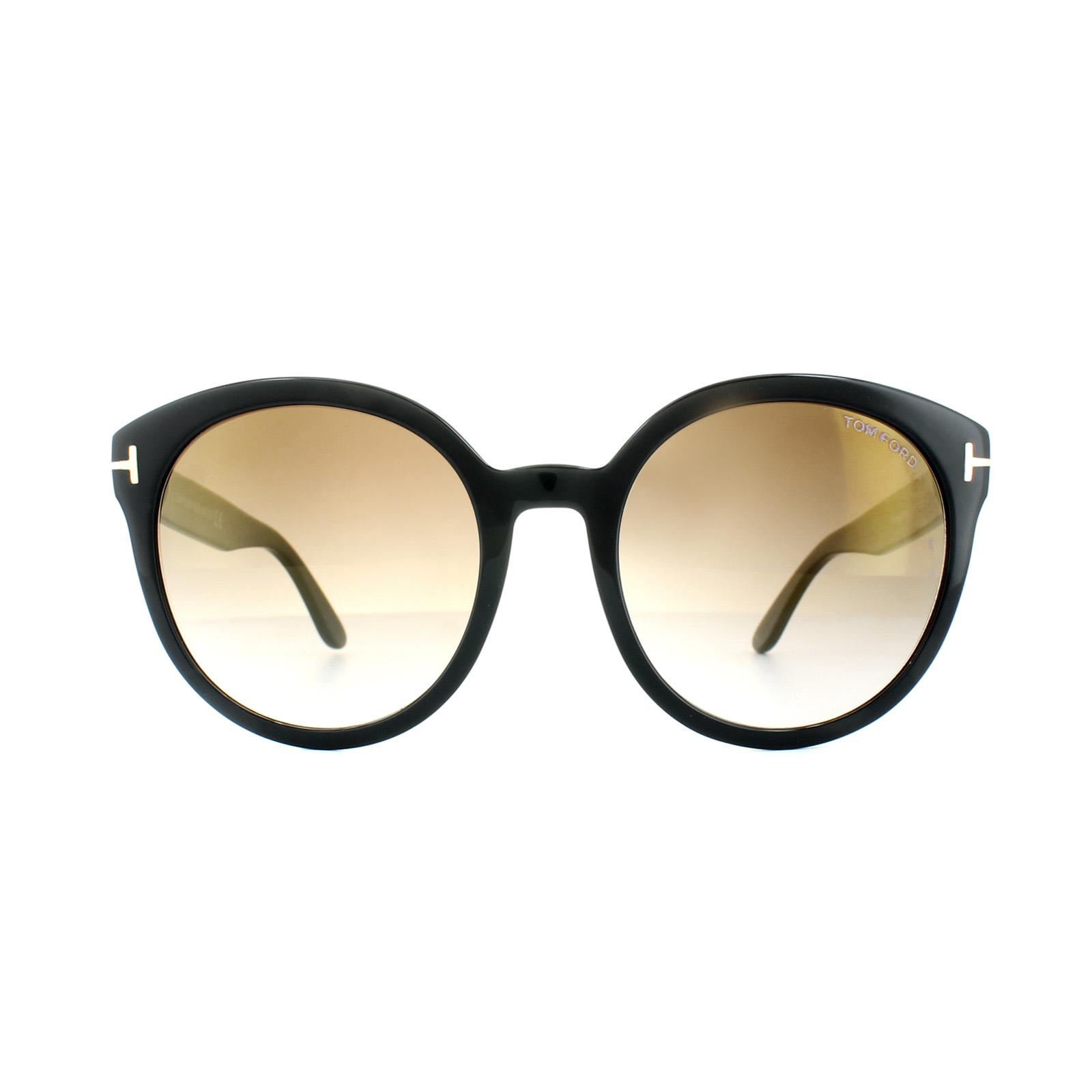 bb37e69cca6 Sentinel Tom Ford Sunglasses 0503 Philippa 01G Shiny Black Brown Mirror