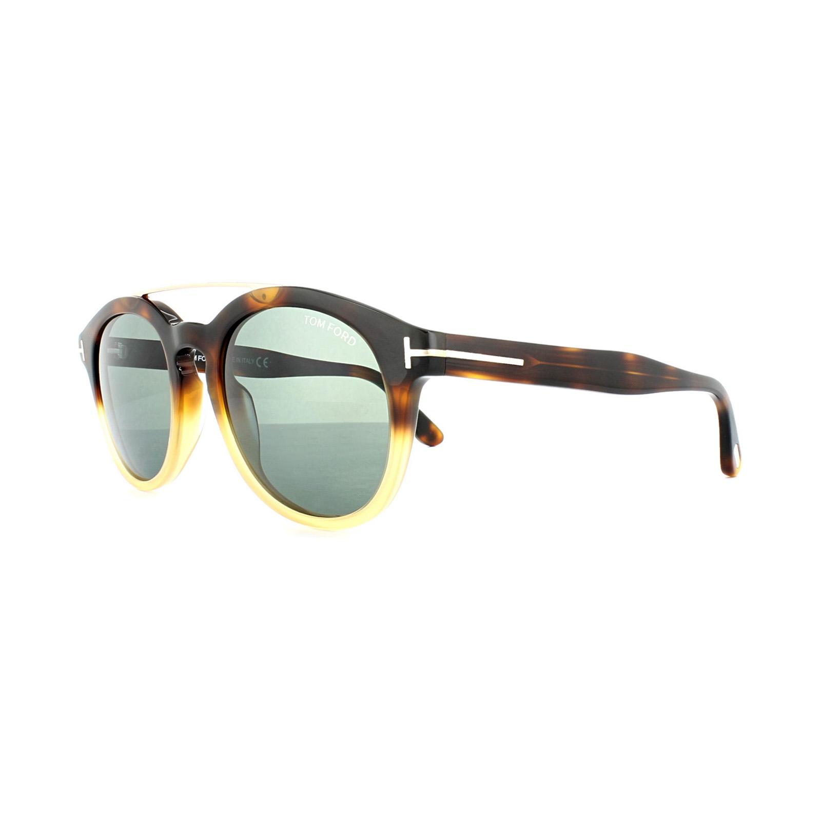 3afebbe0fa Sentinel Tom Ford Sunglasses 0515 Newman 56N Light Havana Fade Green