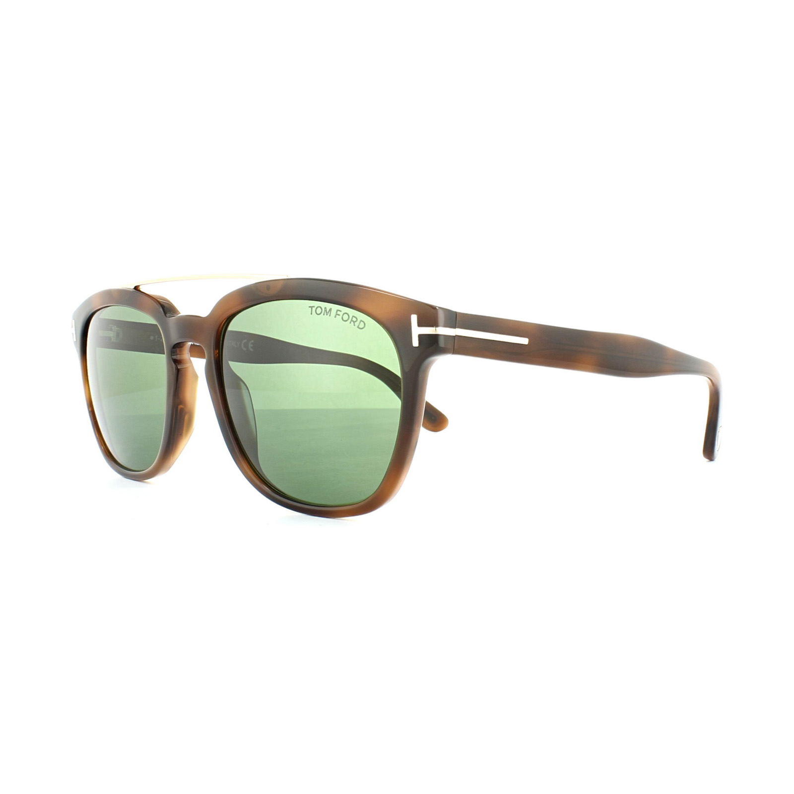 218060a654 Tom Ford Sunglasses 0516 Holt 53N Blonde Havana Green 664689829590 ...