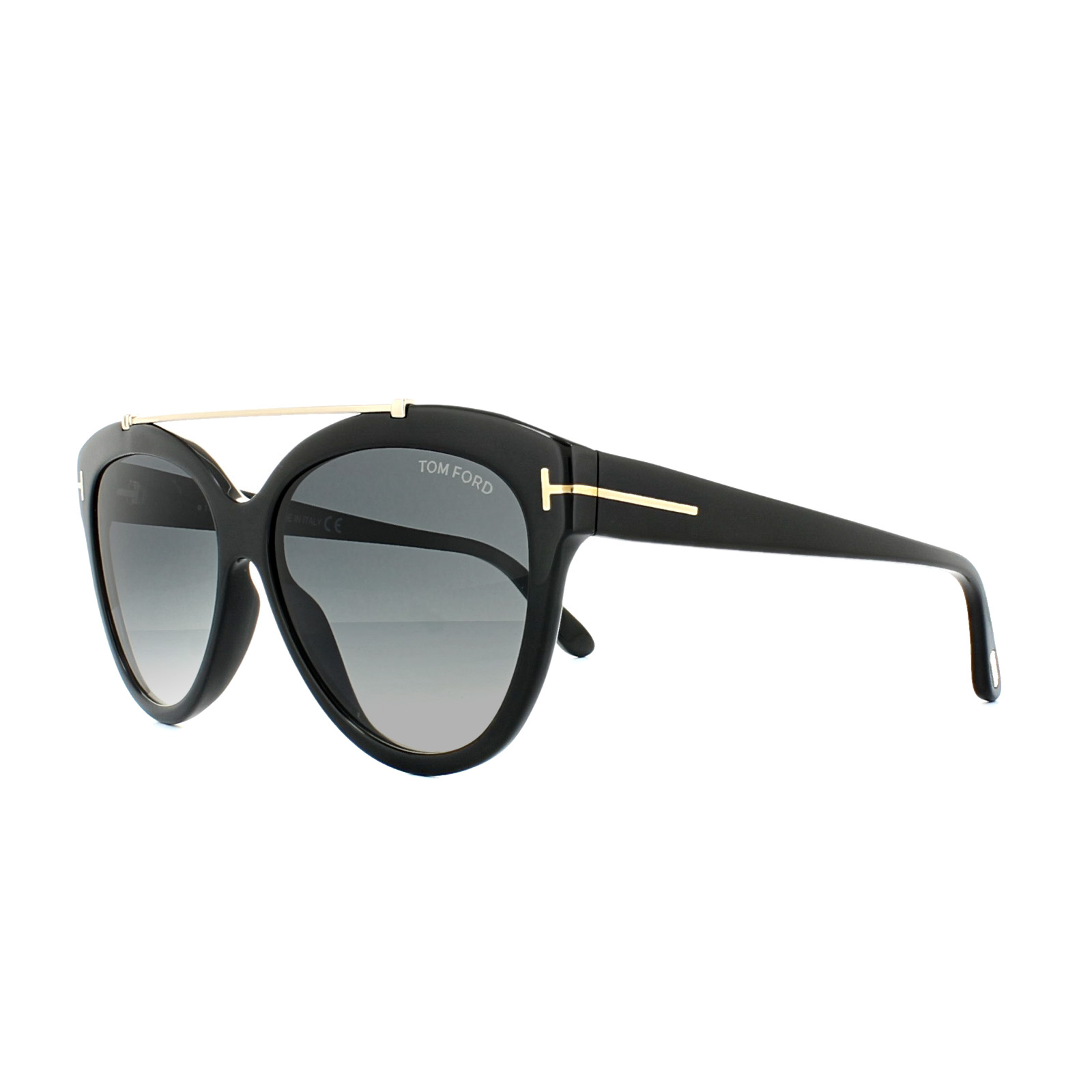 06781e5e3703 Sentinel Tom Ford Sunglasses 0518 Livia 01B Shiny Black Grey Gradient