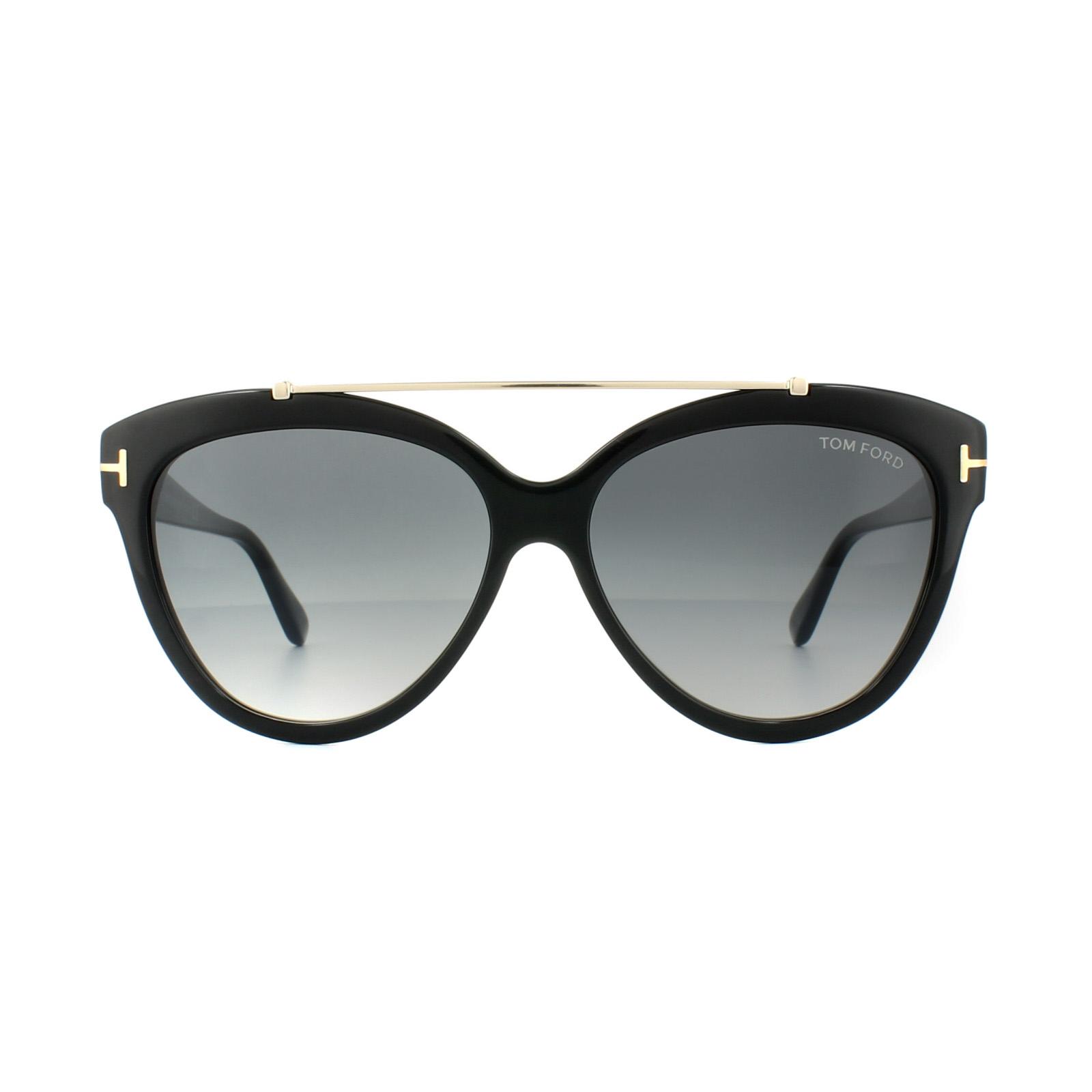 36c47aacfc7b Sentinel Tom Ford Sunglasses 0518 Livia 01B Shiny Black Grey Gradient