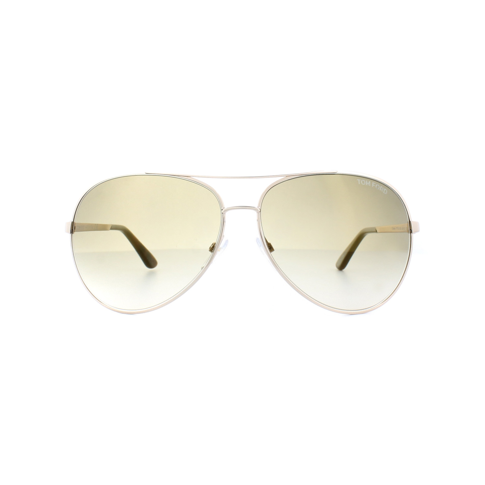 3f3fcdd2d355 Sentinel Tom Ford Sunglasses 0035 Charles 28G Shiny Rose Gold Brown Mirror