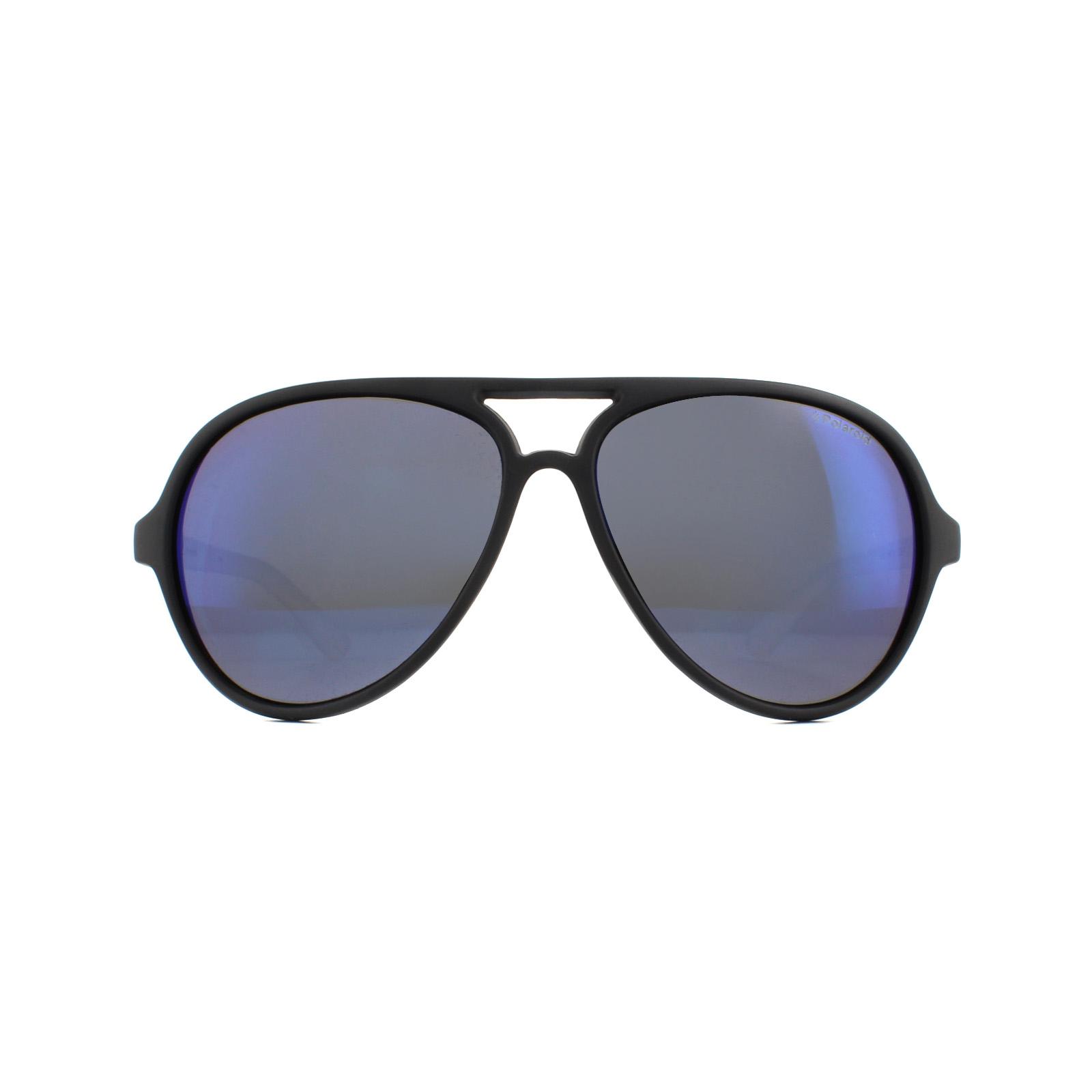 Dettagli su Polaroid Occhiali da Sole P8401 7C5 Jy Cristallo Nero Grigio Blu Specchio