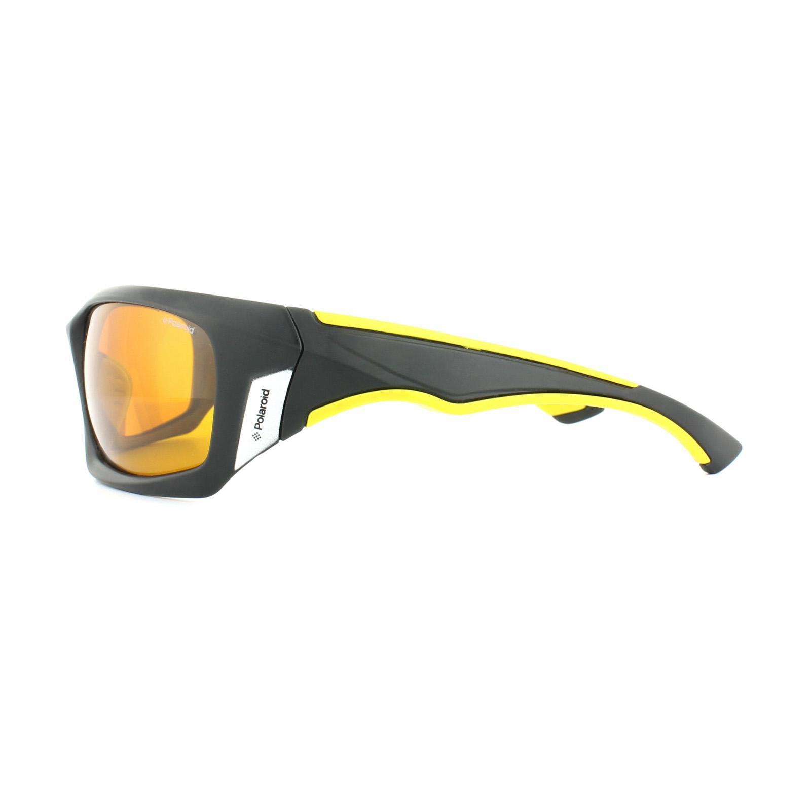 Polaroid Sport Sonnenbrille P7405 71C MU Schwarz & Gelb Gelb Polarisiert QXZKeYN
