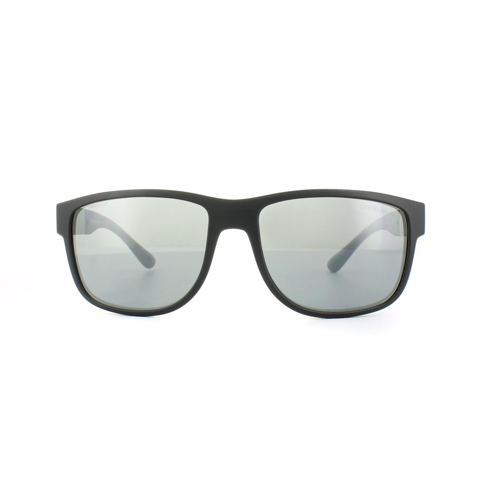 fe38620392a1 Sentinel Giorgio Armani Sunglasses AR8057 50426G Matt Black Grey Silver  Mirror