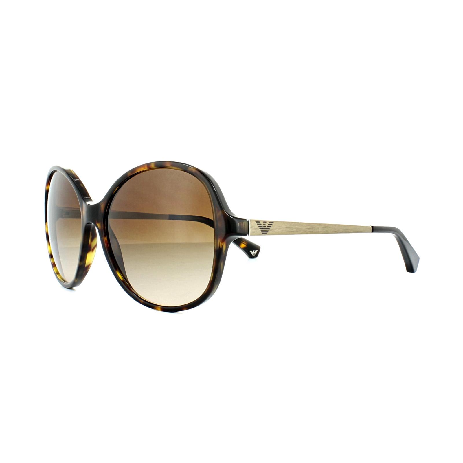 77177d9ff32 Sentinel Emporio Armani Sunglasses 4024 502613 Dark Havana Matt Gold Brown  Gradient
