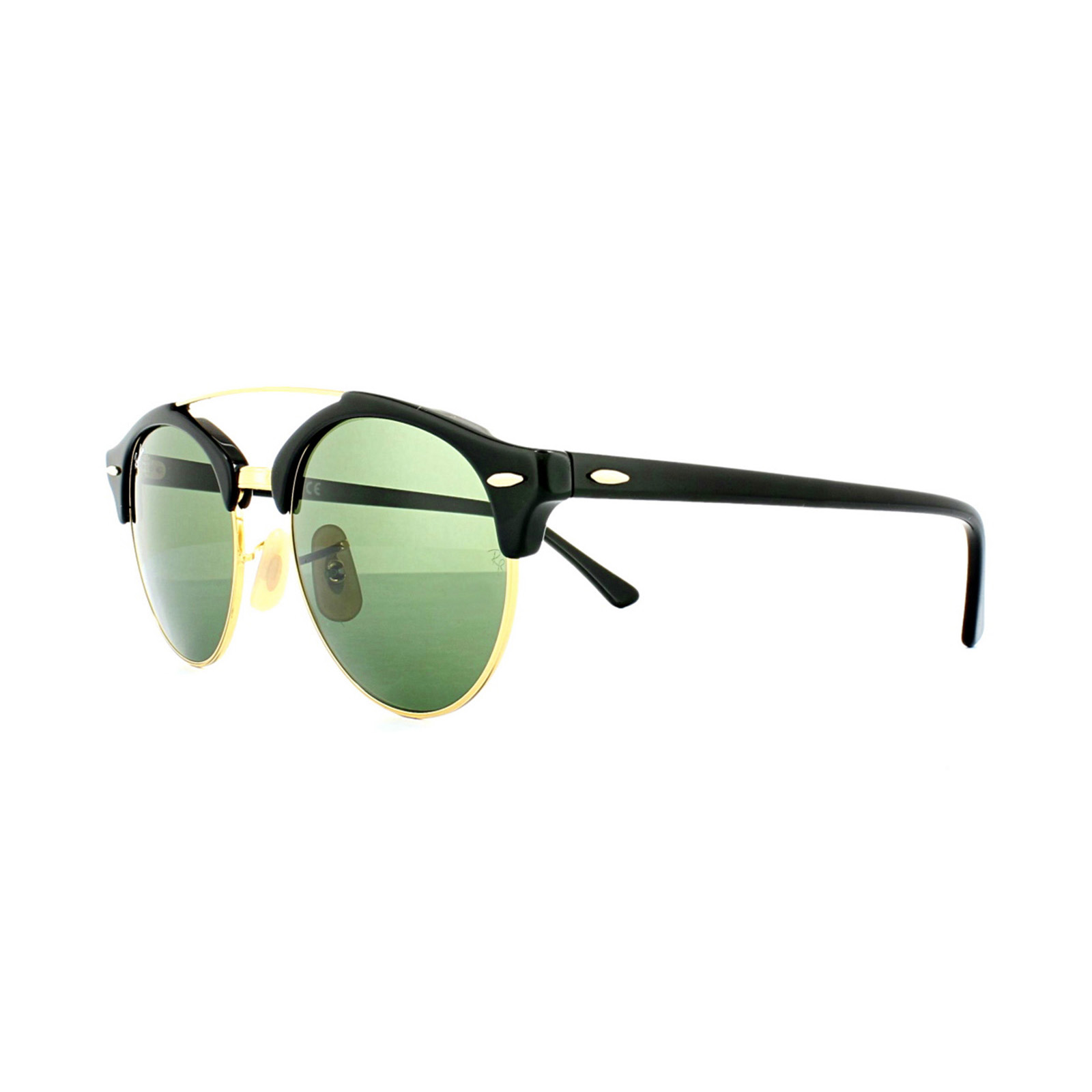 3510209cfe27d8 Cheap Ray-Ban Clubround Double Bridge 4346 Sunglasses - Discounted ...