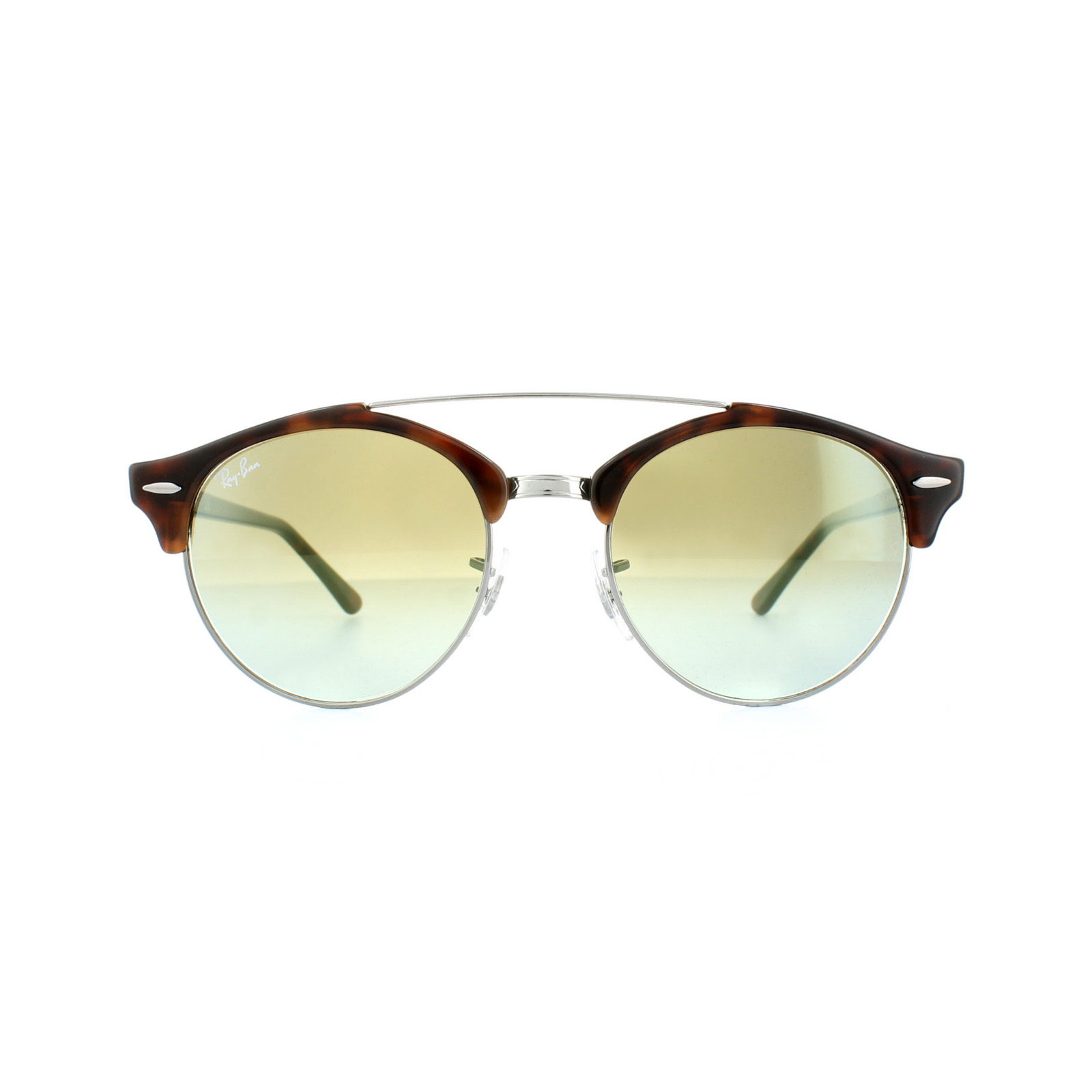 eae473bebd Sentinel Ray-Ban Sunglasses Clubround Double Bridge 4346 62519J Havana  Green Gradient