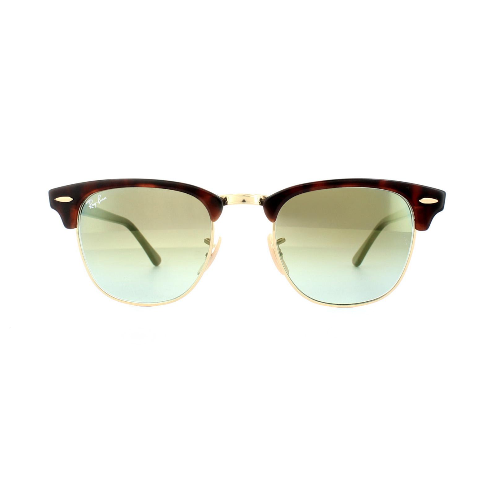 bdc505ff41 Sentinel Thumbnail 2. Sentinel Ray-Ban Sunglasses Clubmaster 3016 990 9J  Tortoise Green Gradient ...