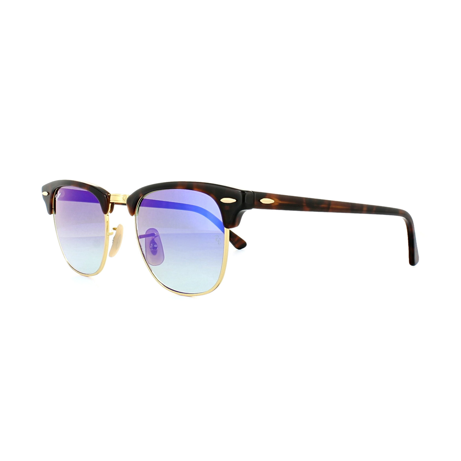 dc054b998c5 Sentinel Ray-Ban Sunglasses Clubmaster 3016 990 7Q Tortoise Blue Gradient  Flash Mirror S