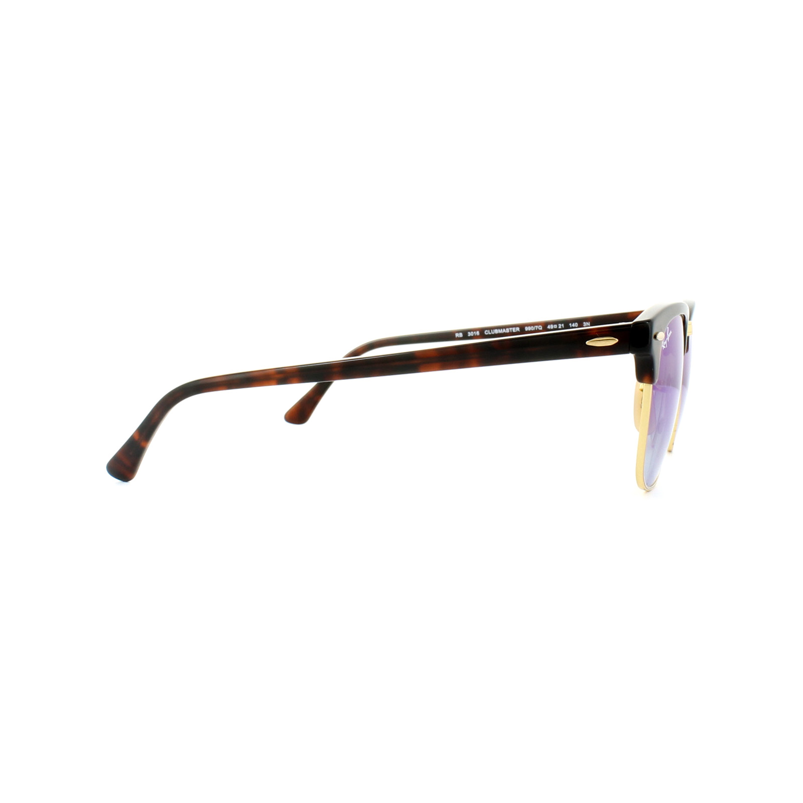836dce46b3 Sentinel Ray-Ban Sunglasses Clubmaster 3016 990 7Q Tortoise Blue Gradient Flash  Mirror S