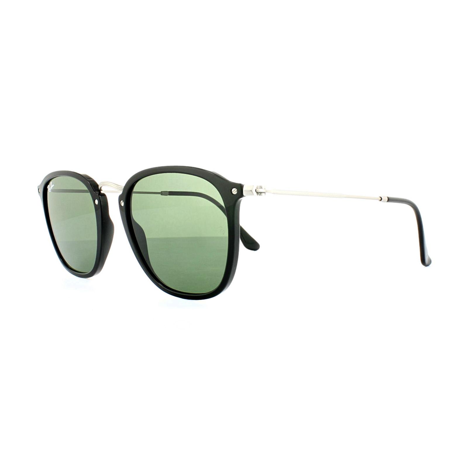 9dc05e454c4c Ray-Ban Sunglasses 2448N 901 Black Silver Green G-15 8053672672213 ...