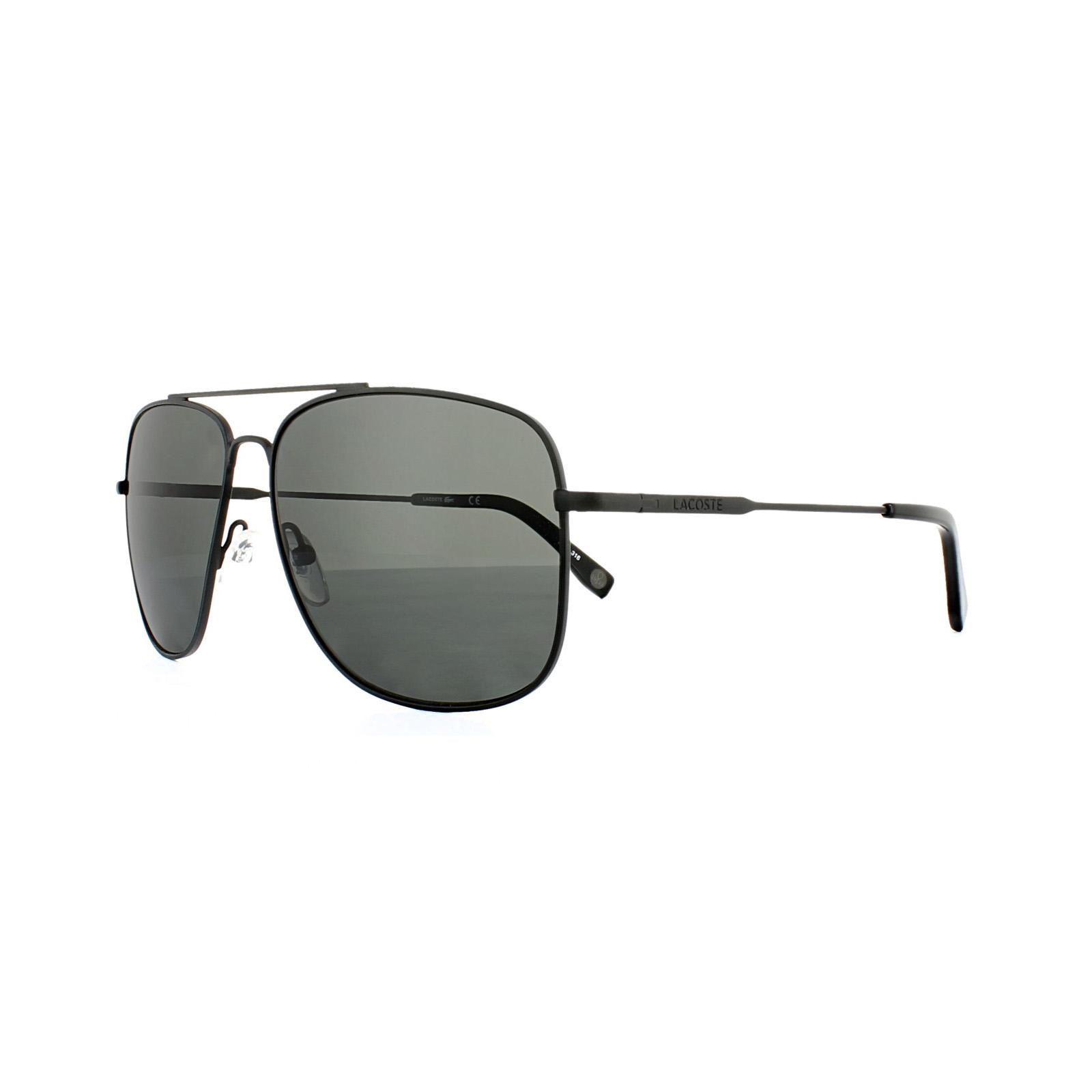 0cbc961f35 Lacoste Sunglasses L175SP 001 Matt Black Grey Polarized 886895236706 ...