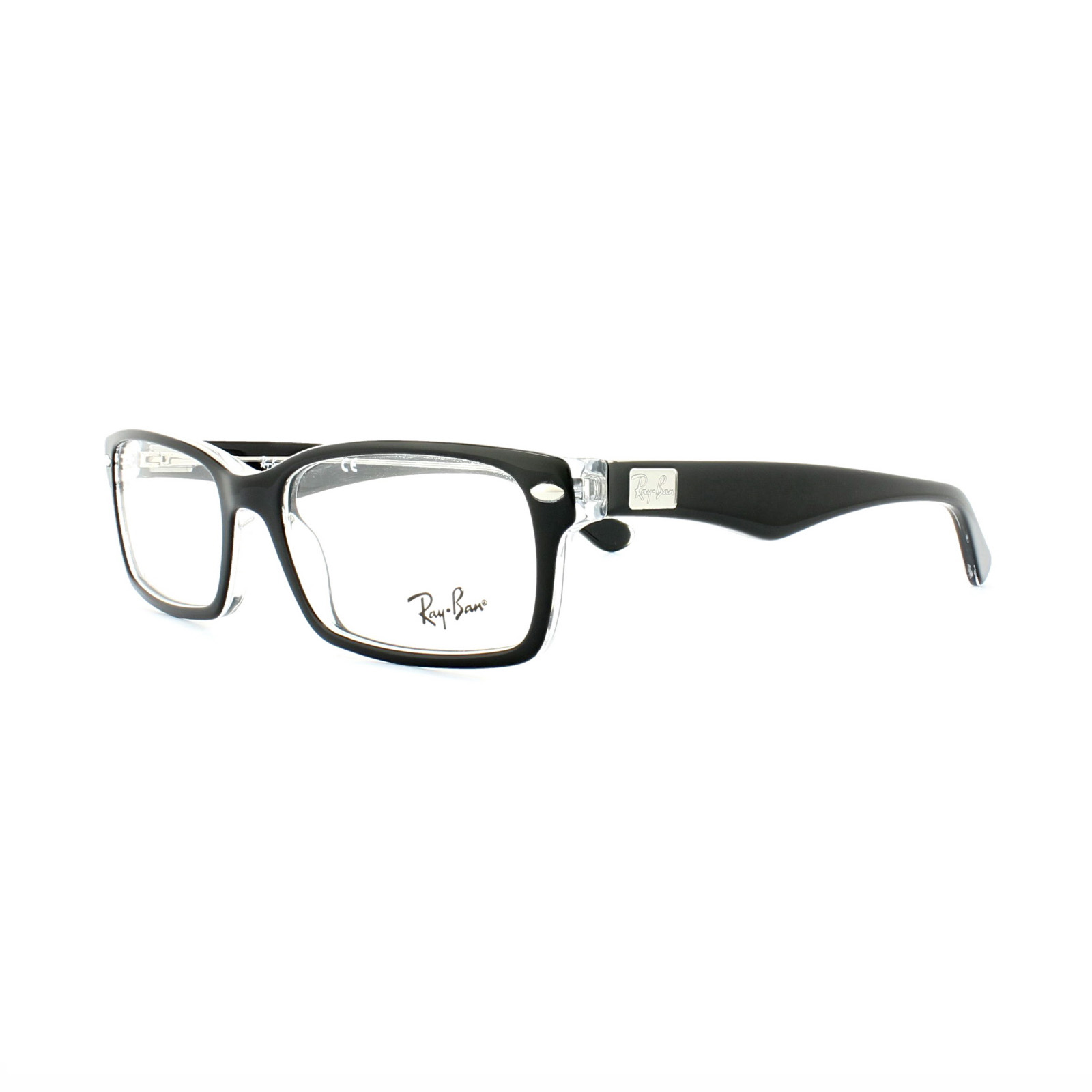 2abf9a35f09 Sentinel Ray-Ban Glasses Frames 5206 2034 Top Black on Transparent