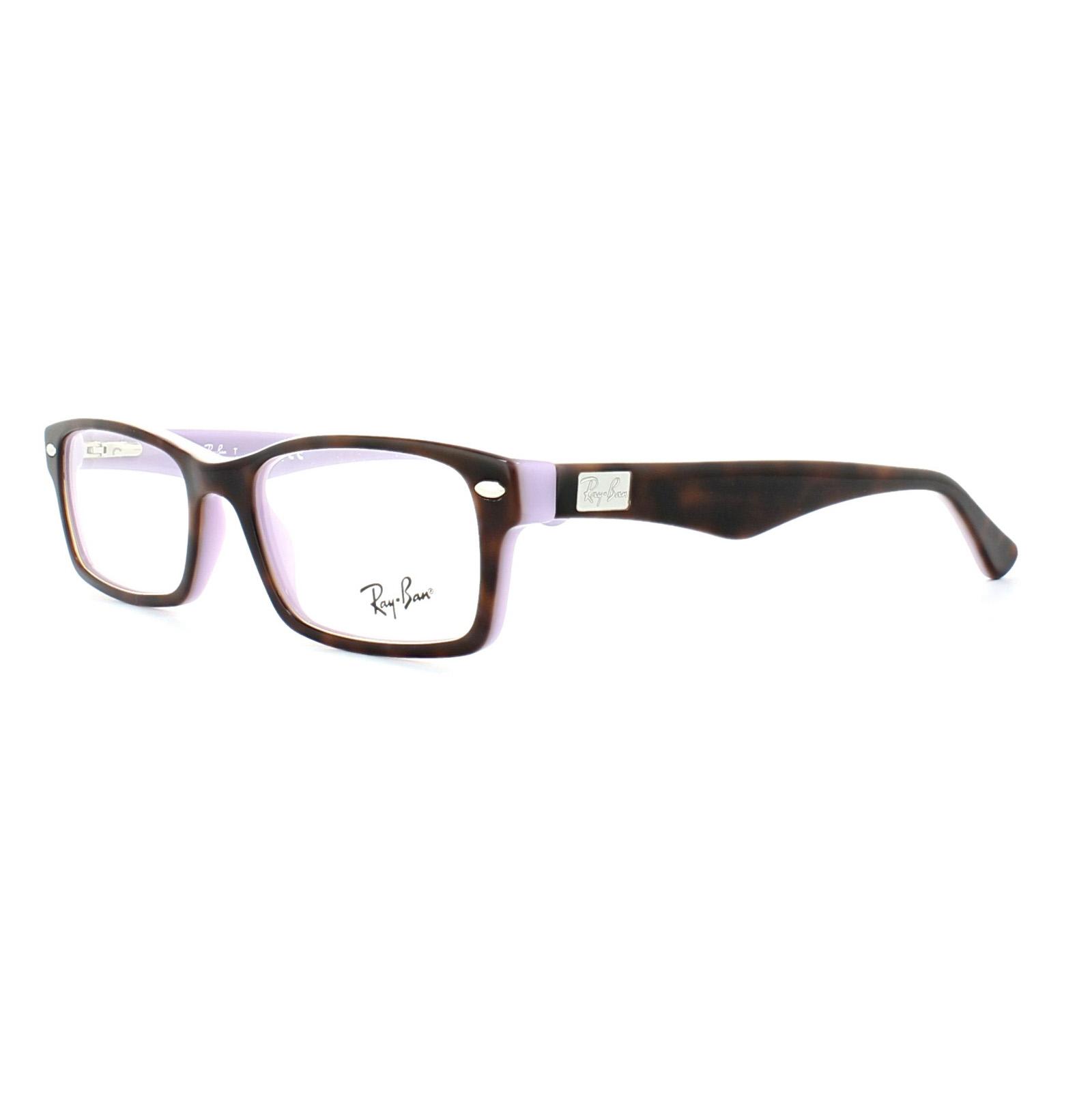 3394b04073c ... eyeglasses d0afe dd27c  wholesale sentinel ray ban glasses frames 5206  5240 havana on opal violet 52mm 9c113 49d59