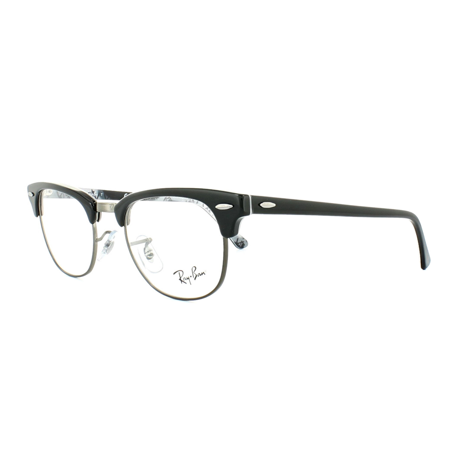 0d3610cc21 Sentinel Ray-Ban Glasses Frames 5154 Clubmaster 5649 Black Texture  Camouflage 49mm