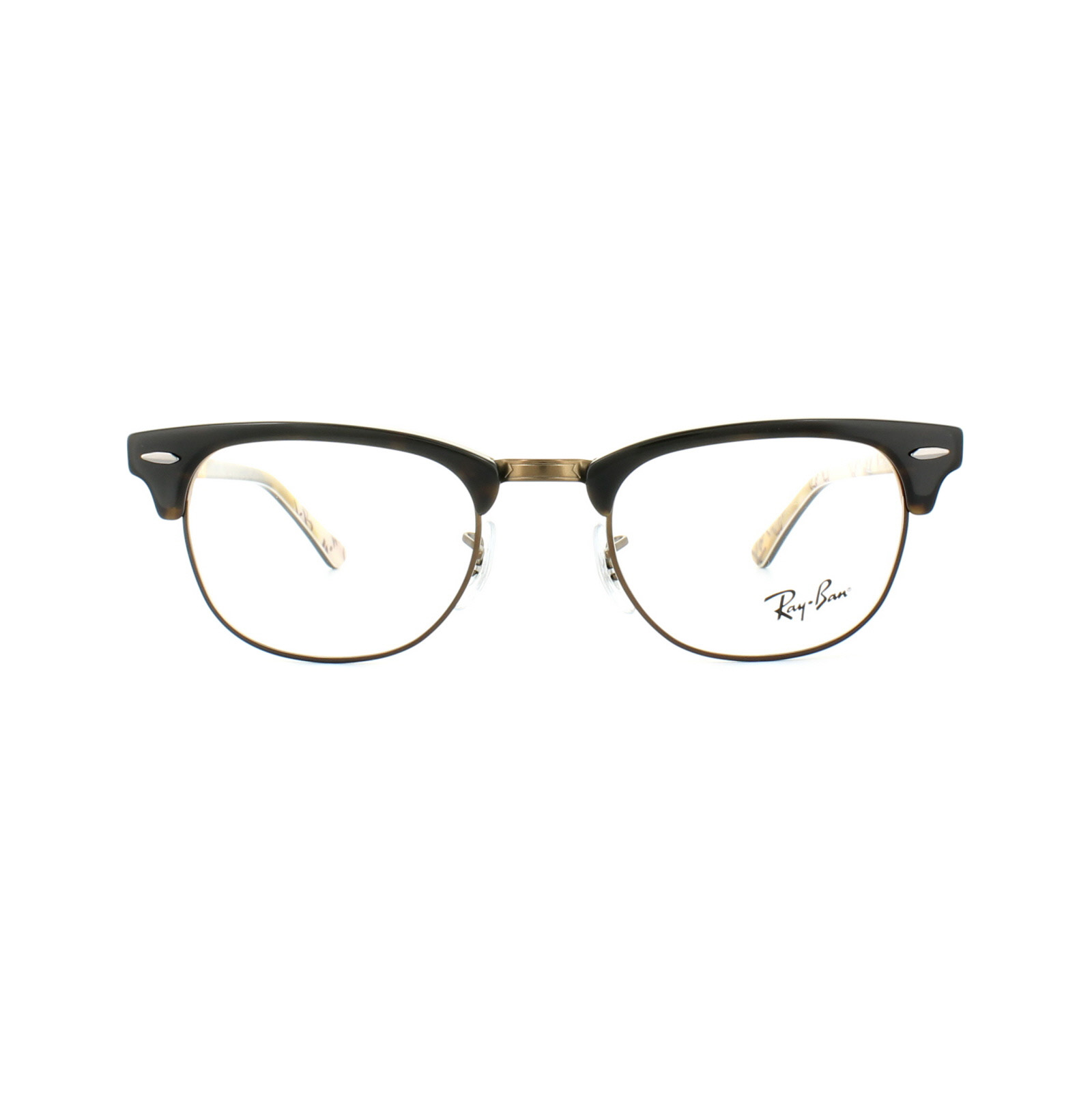 Details about Ray Ban Glasses Frames 5154 Clubmaster 5650 Havana Texture Camouflage 51mm